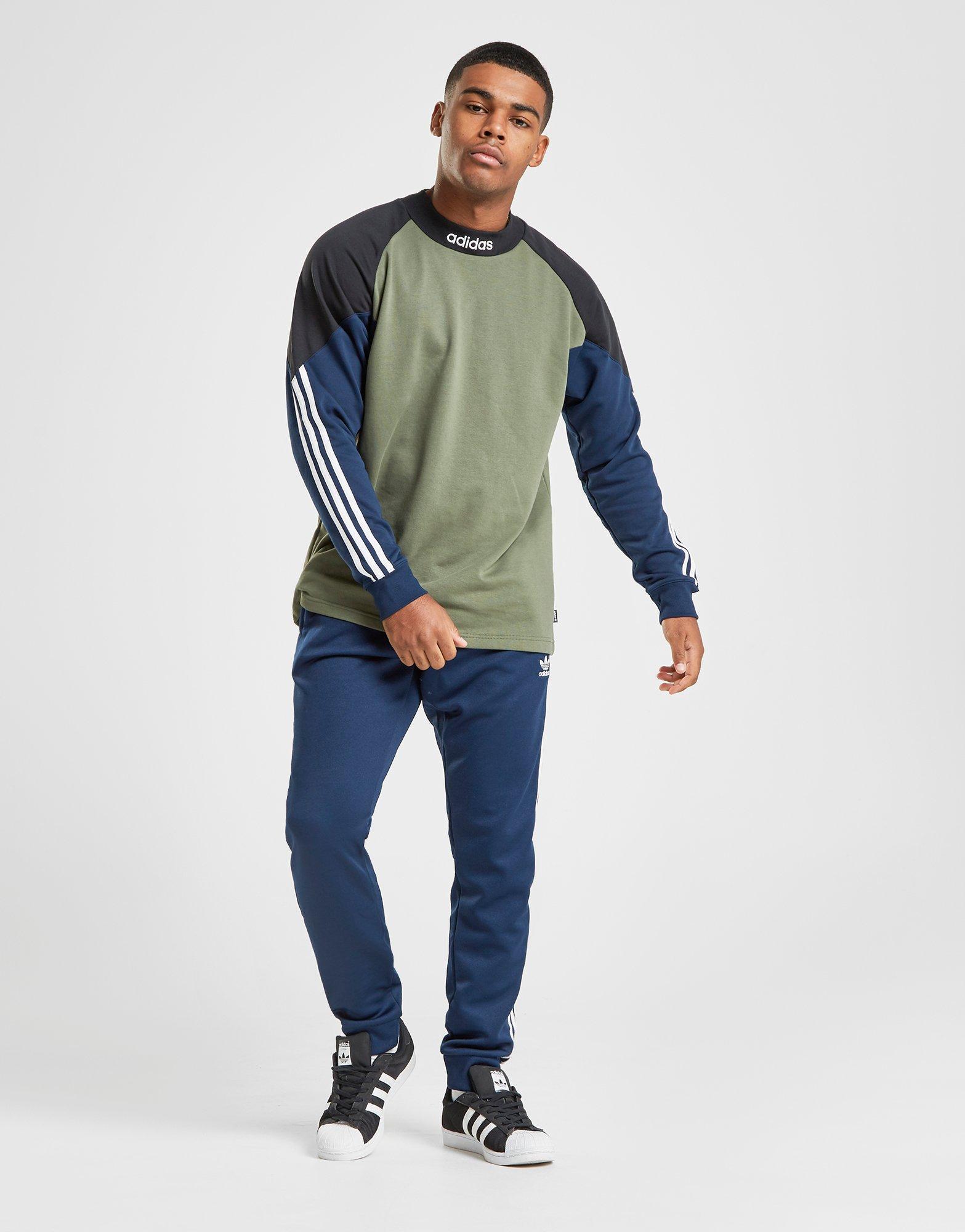 4d4140fbf5b adidas Goalie Fleece Top in Green for Men - Lyst