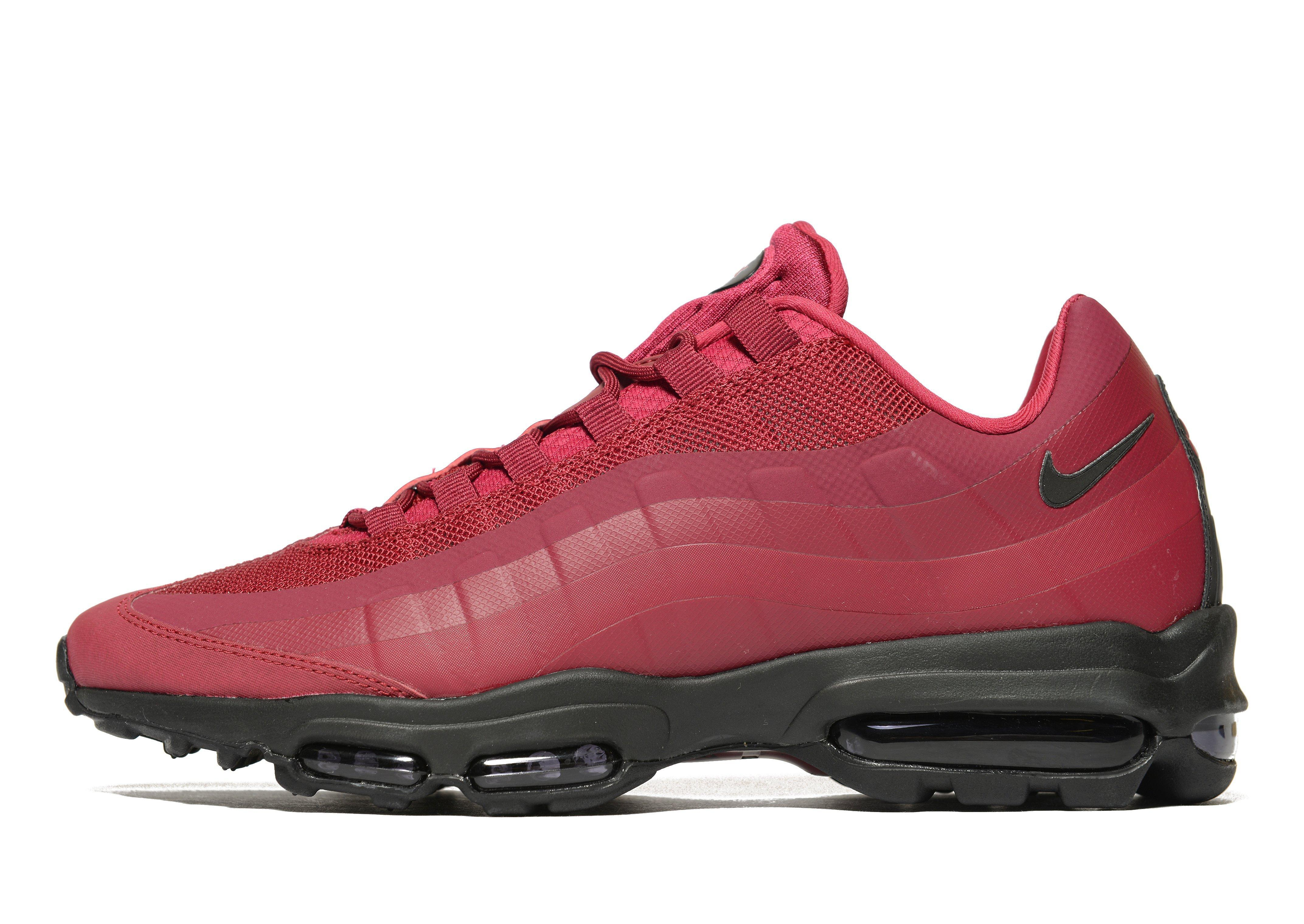 70e28c352fe3 Lyst - Nike Air Max 95 Ultra Essential in Red for Men