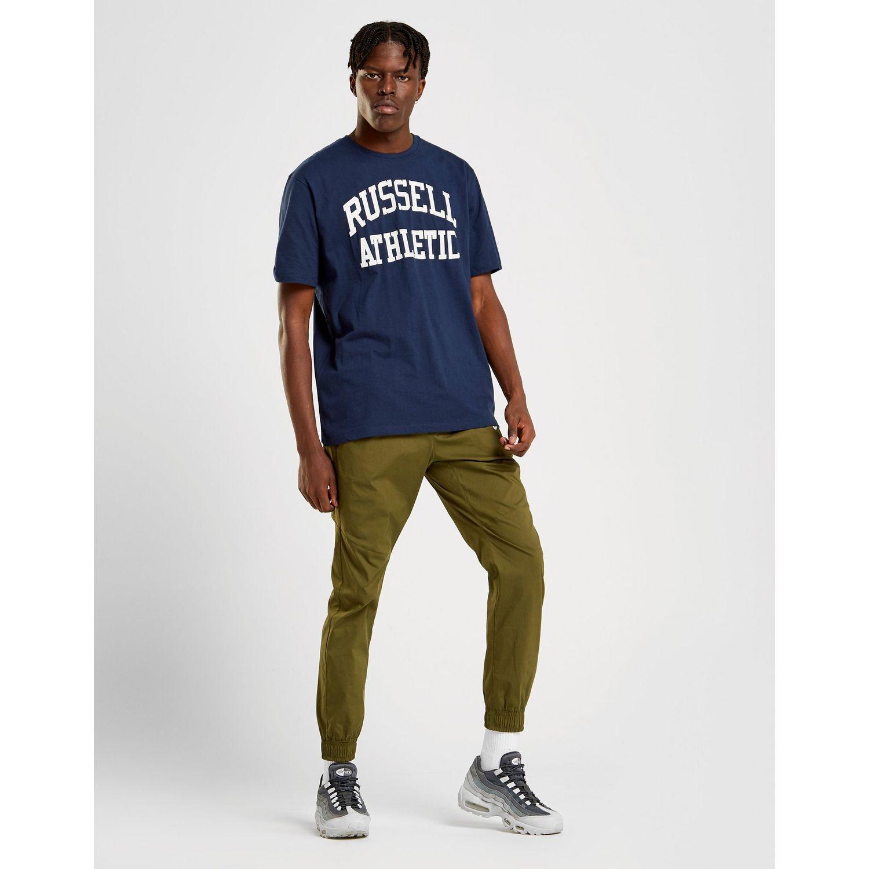 Russell Athletic - Blue Arch Logo Short Sleeve T-shirt for Men - Lyst. View  fullscreen 65bc8b01b9fbe