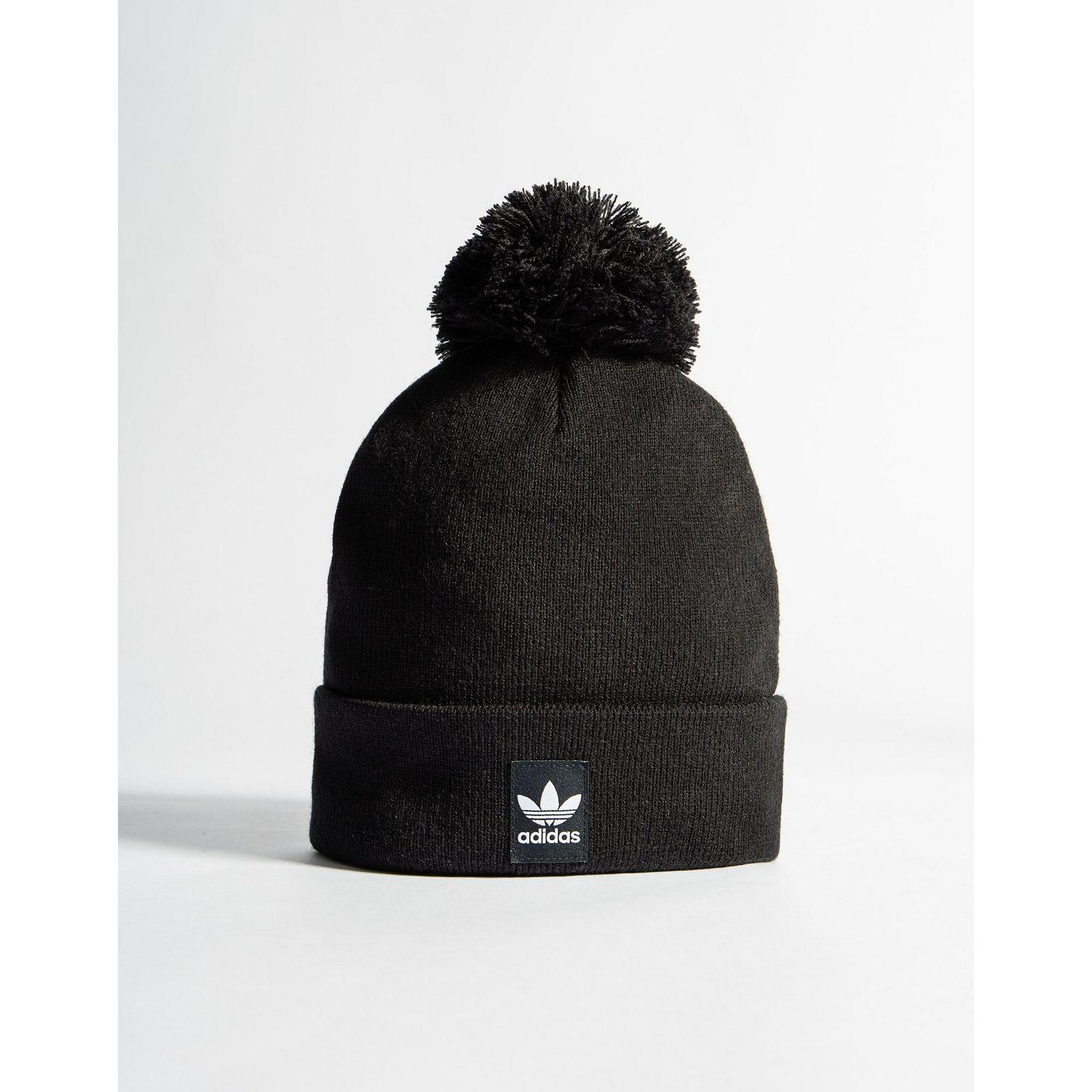 Lyst - adidas Originals Logo Pom Beanie in Black for Men b414acb50918