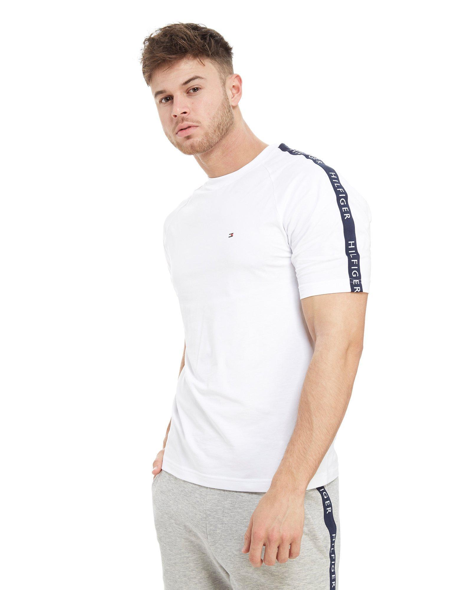 Lyst - Tommy Hilfiger Side Tape T-shirt in White for Men 7c71626adf