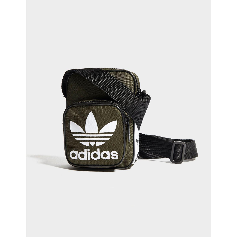 123d87d0e3f8 adidas Originals Mini Tape Crossbody Bag in Black for Men - Lyst