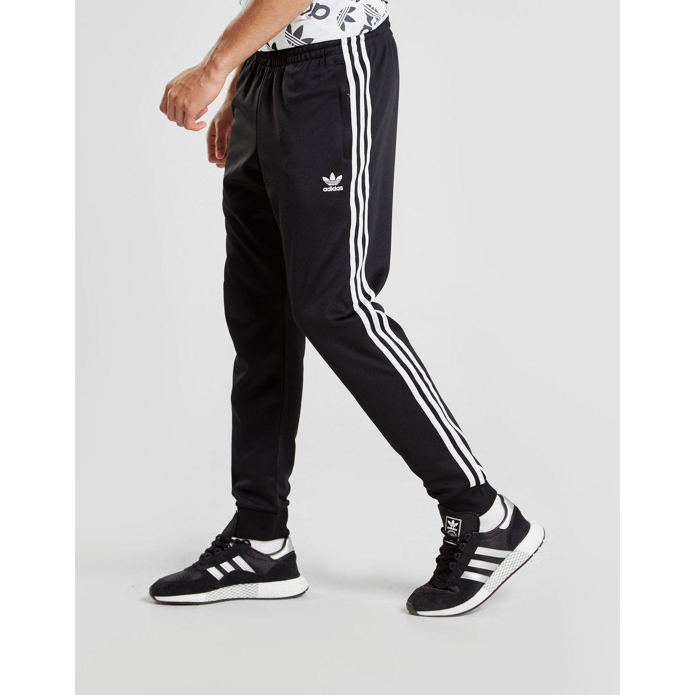 de51a349ecf3d Adidas Originals - Black Superstar Cuffed Track Pants for Men - Lyst. View  fullscreen