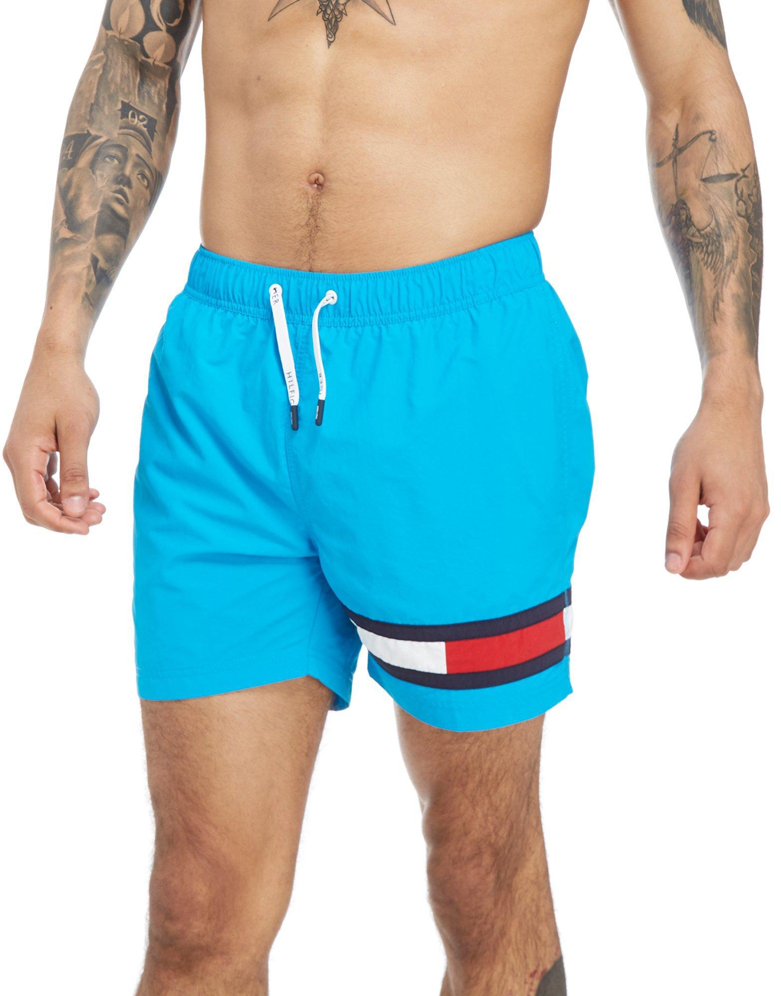 1ea21d85810c3d Tommy Hilfiger Flag Logo Swim Shorts in Blue for Men - Lyst