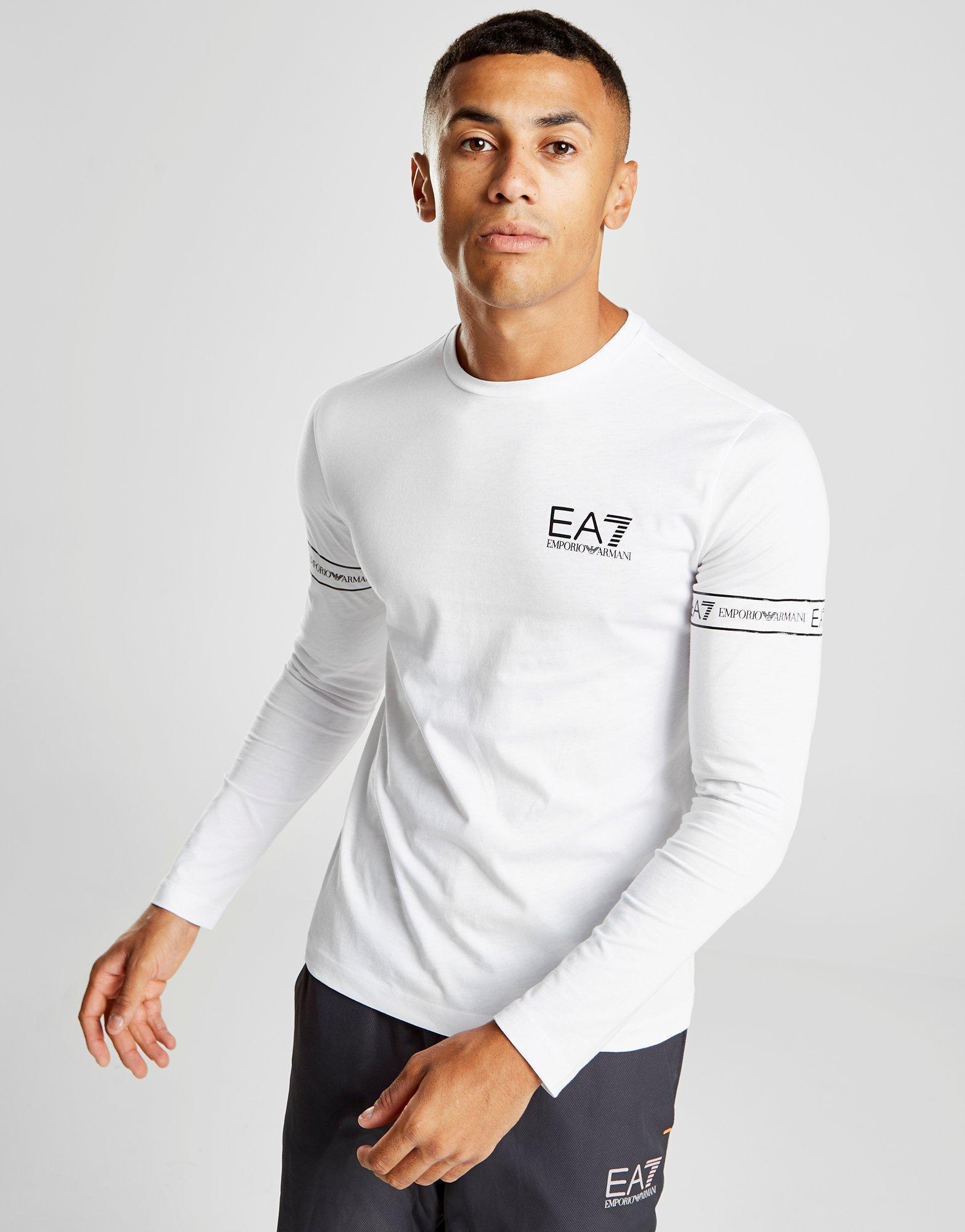 37318c5b EA7 Long Sleeve Tape T-shirt in White for Men - Lyst