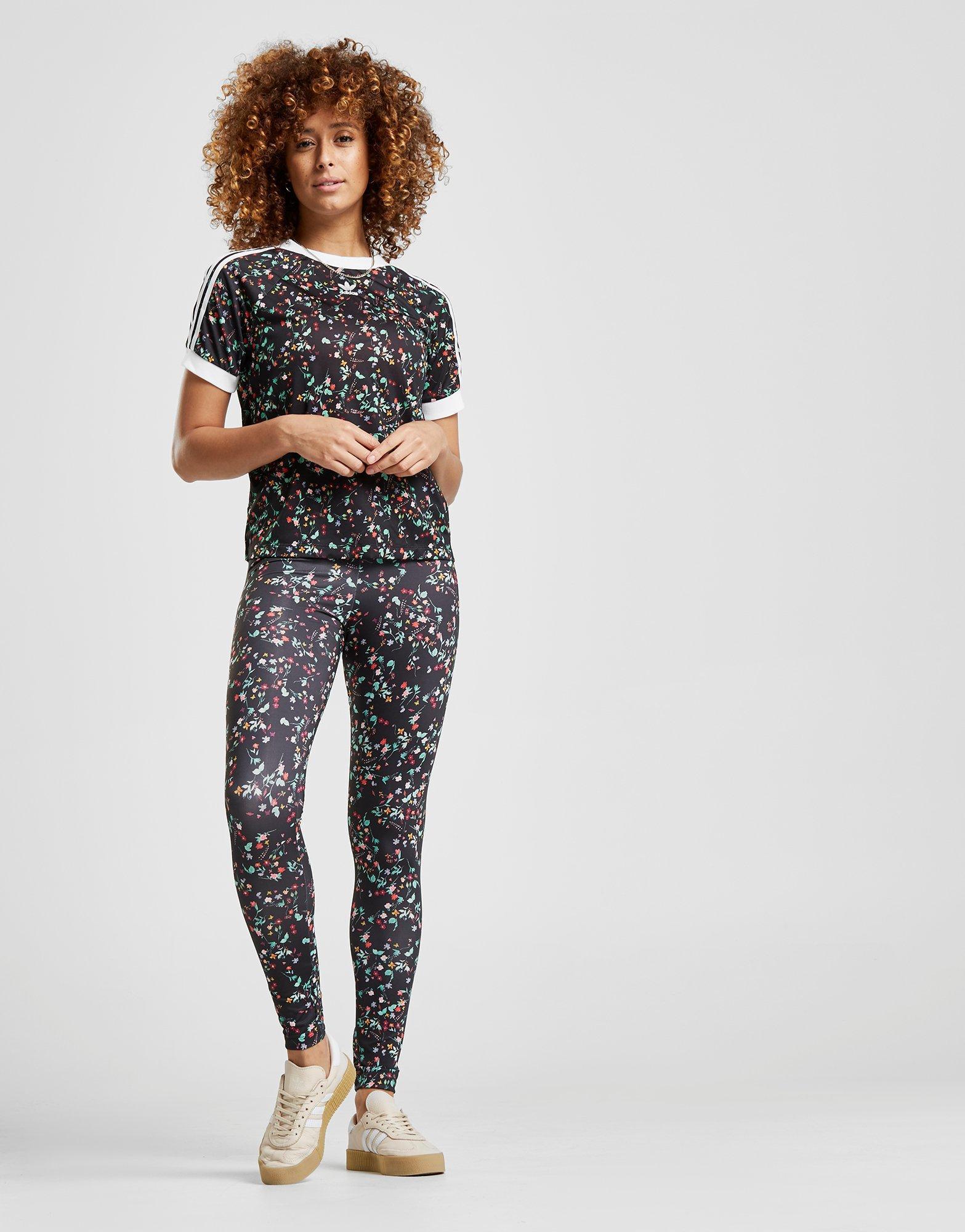 939f1d9115fc Lyst - adidas Originals Floral All Over Print T-shirt in Black