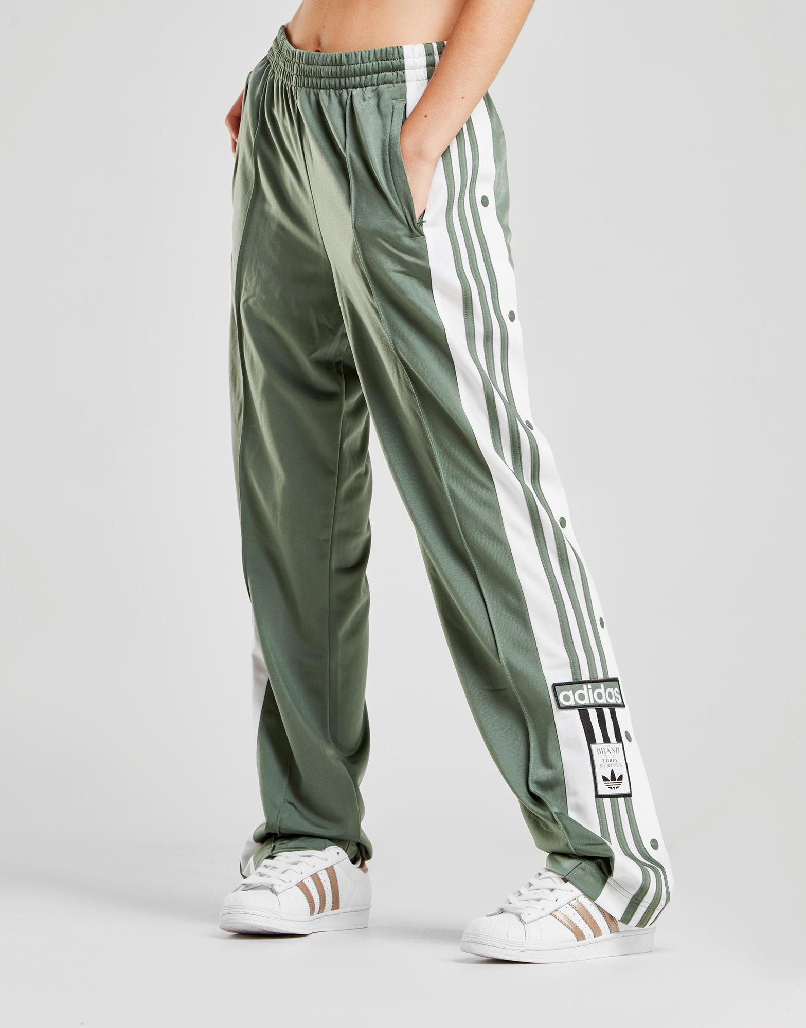 adidas Synthetic Adibreak Track Pants in GreenWhite (Green