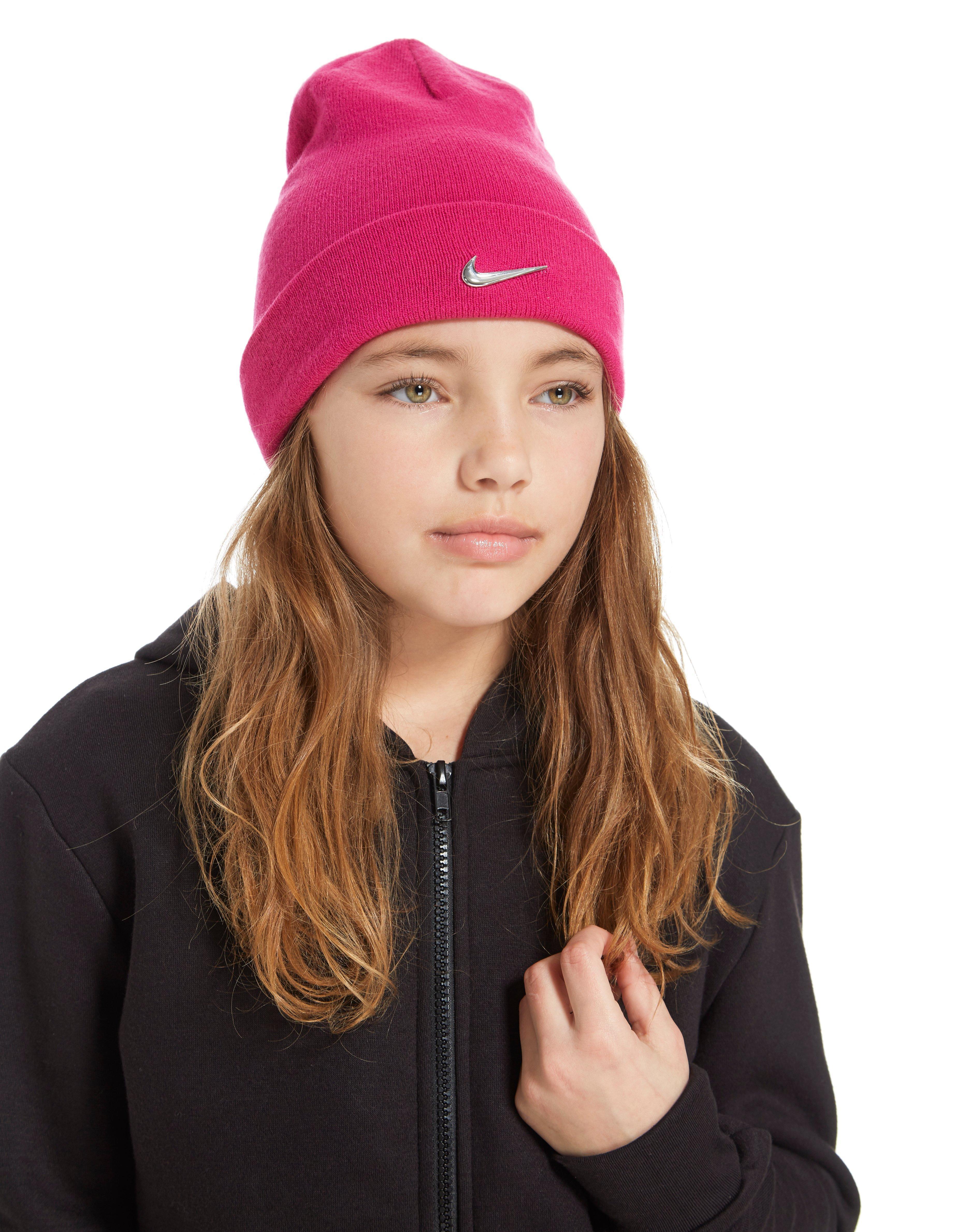 Lyst - Nike Swoosh Beanie Hat in Pink 6bce566fc4e