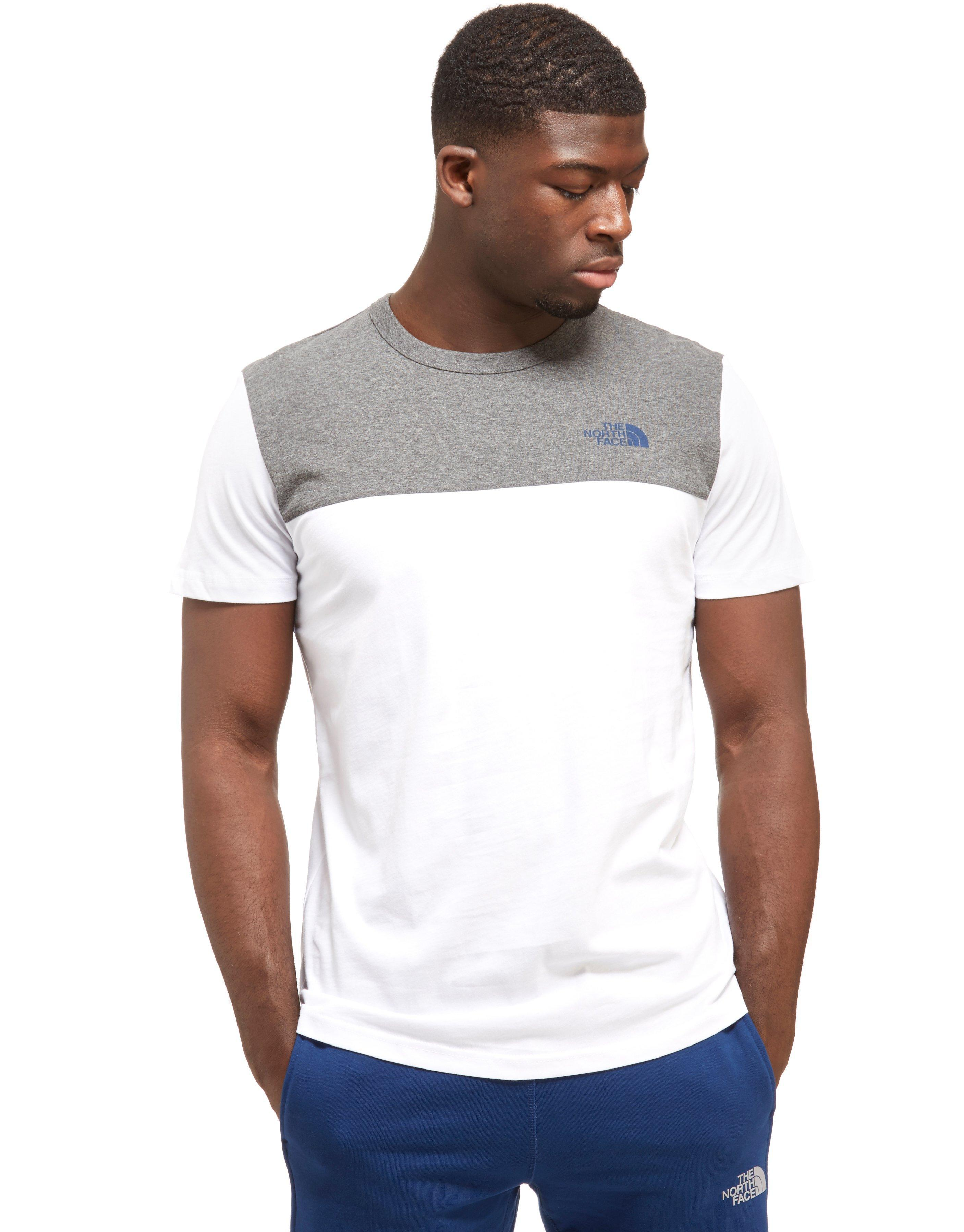 593bec6a Lyst - The North Face Colour Block T-shirt in Gray for Men