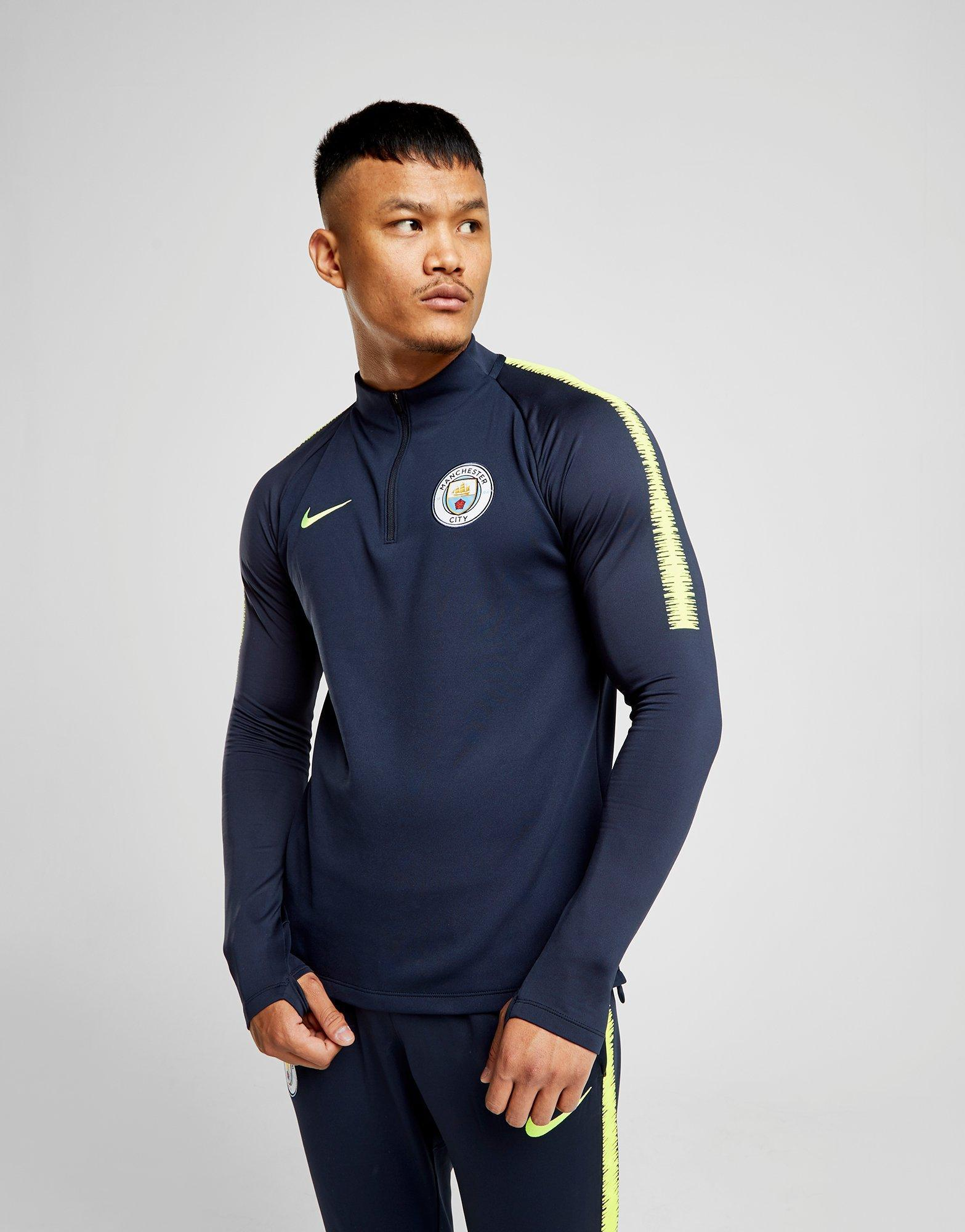 bd55f54f Nike Manchester City 2018/19 Squad Drill Top in Blue for Men - Lyst