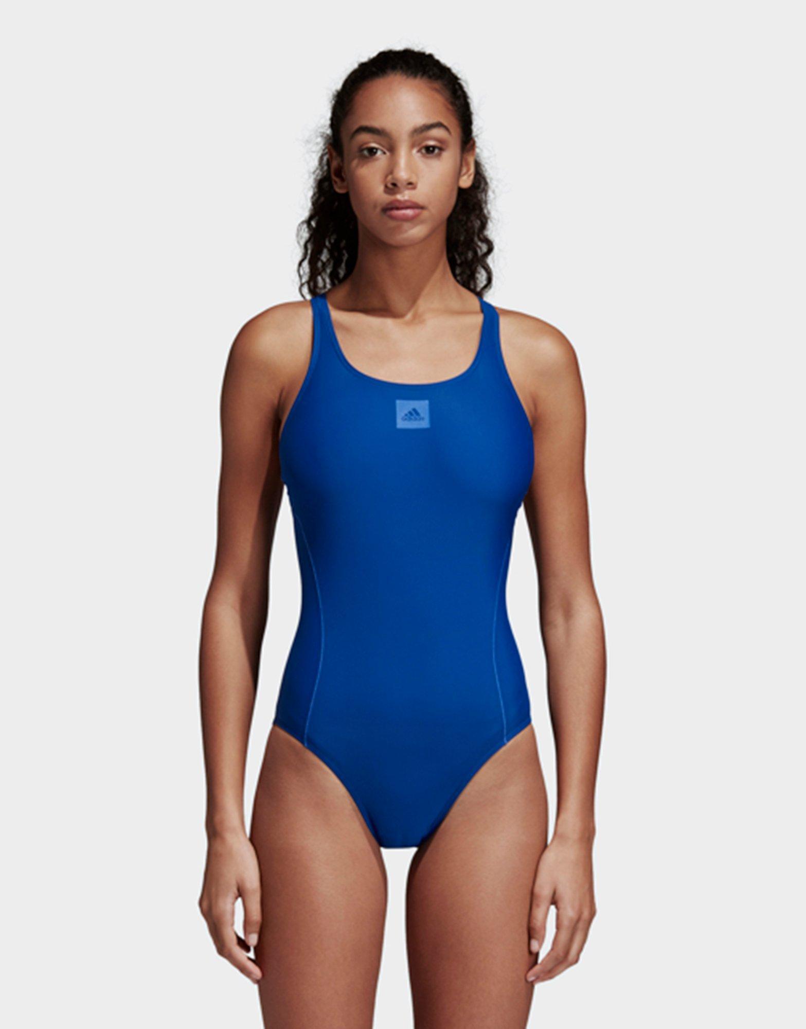dea95711c6066 Adidas Essence Core Solid Swim Suit in Blue - Lyst