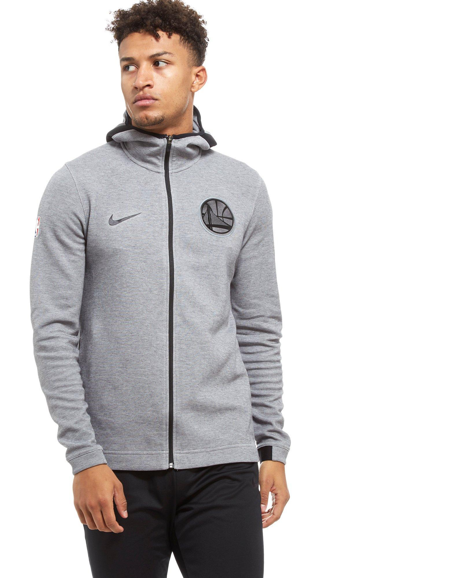 07c7387b76ec Nike Nba Golden State Warriors Therma Flex Hoodie in Gray for Men - Lyst