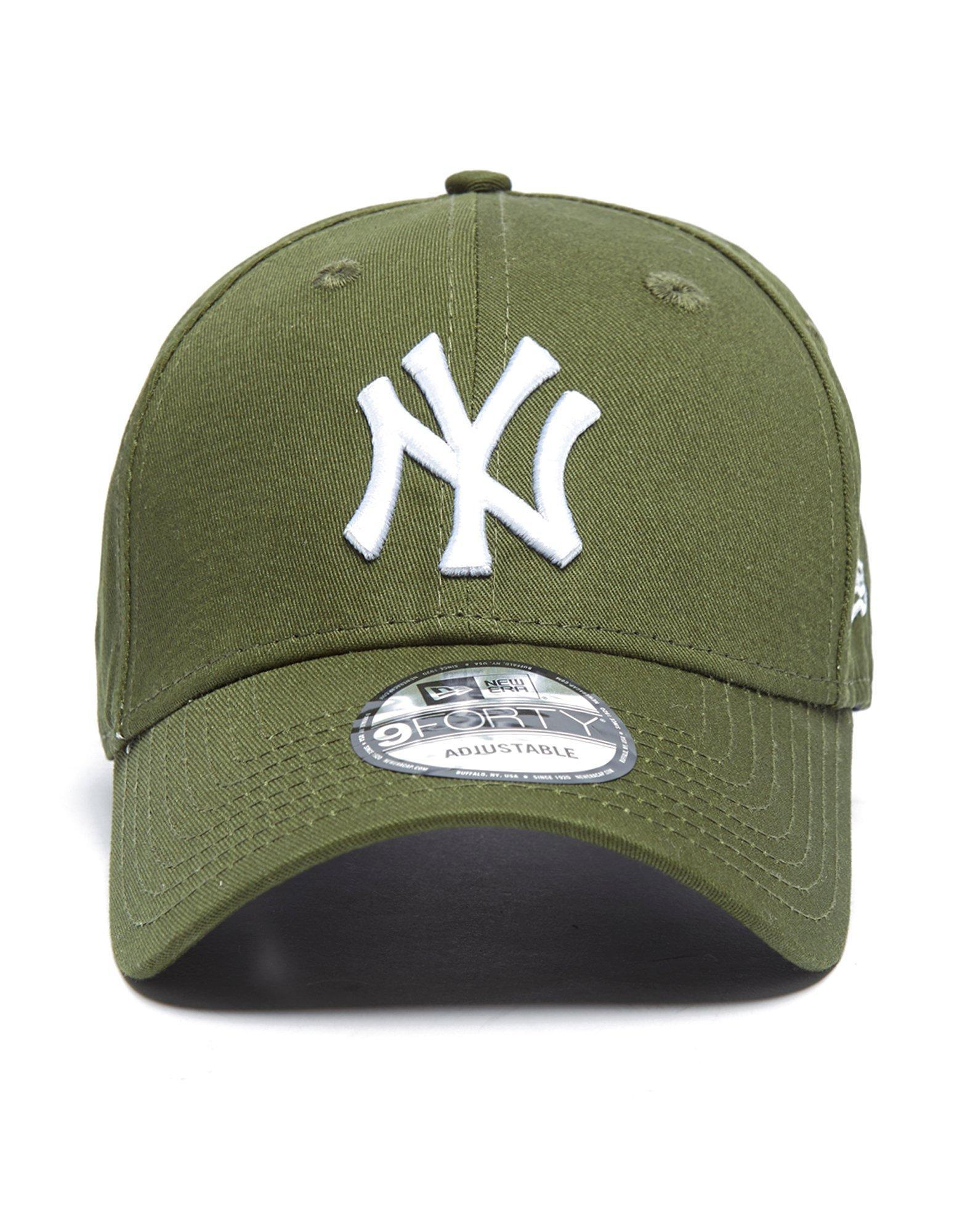 838374f3 ... australia ktz. womens green mlb new york yankees 9forty essentials cap  c6a93 3c8a9