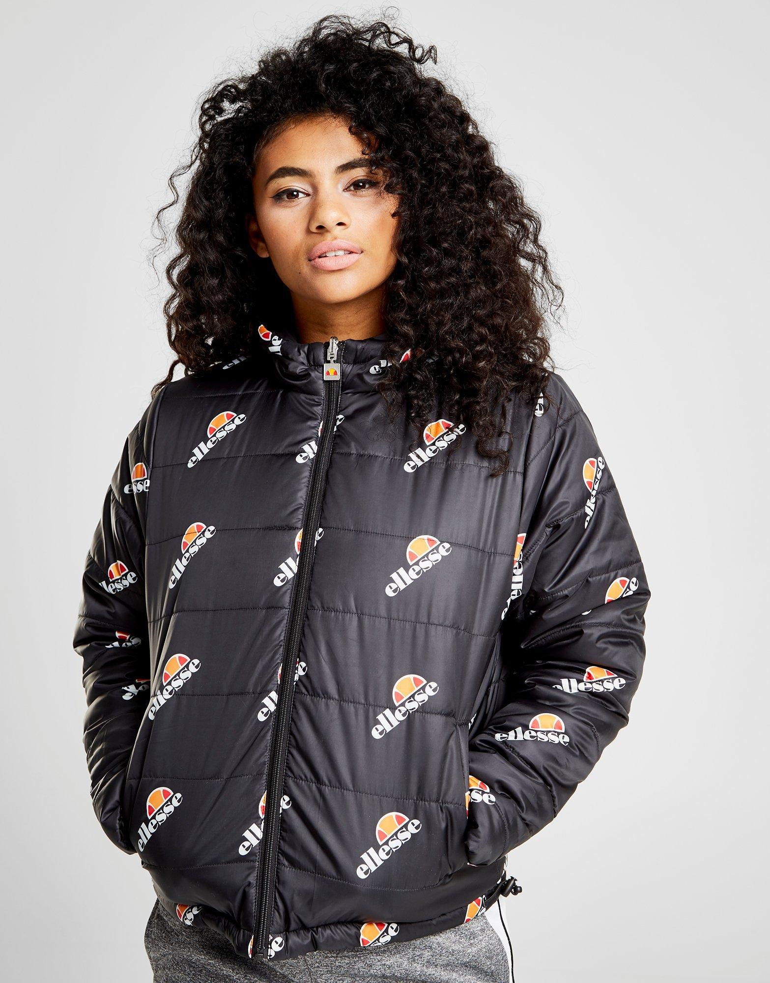 342e6bef8 Ellesse Reversible Padded Jacket in Black - Lyst