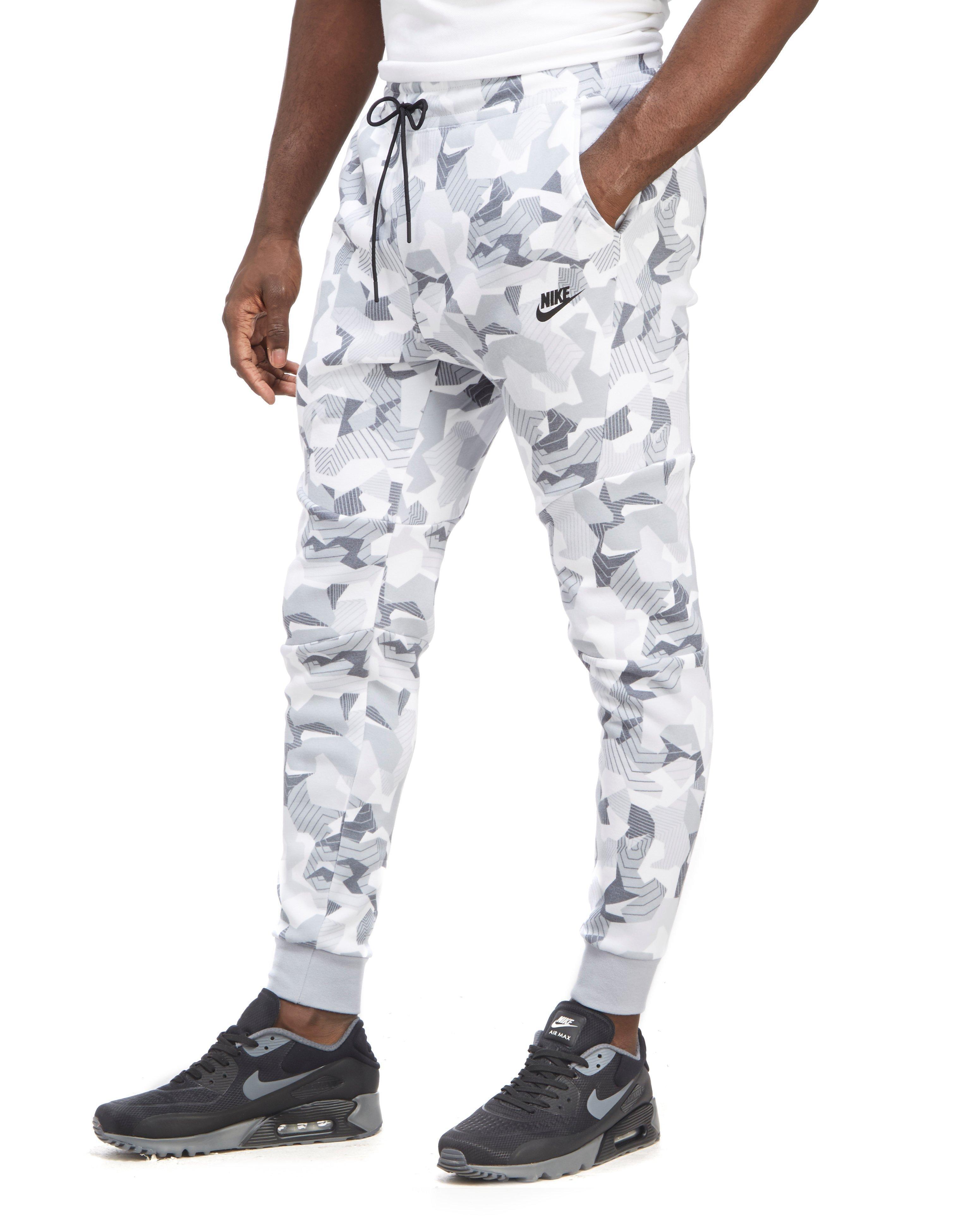 Lyst - Nike Tech Fleece Camouflage Pants in White for Men 864a0cb1b