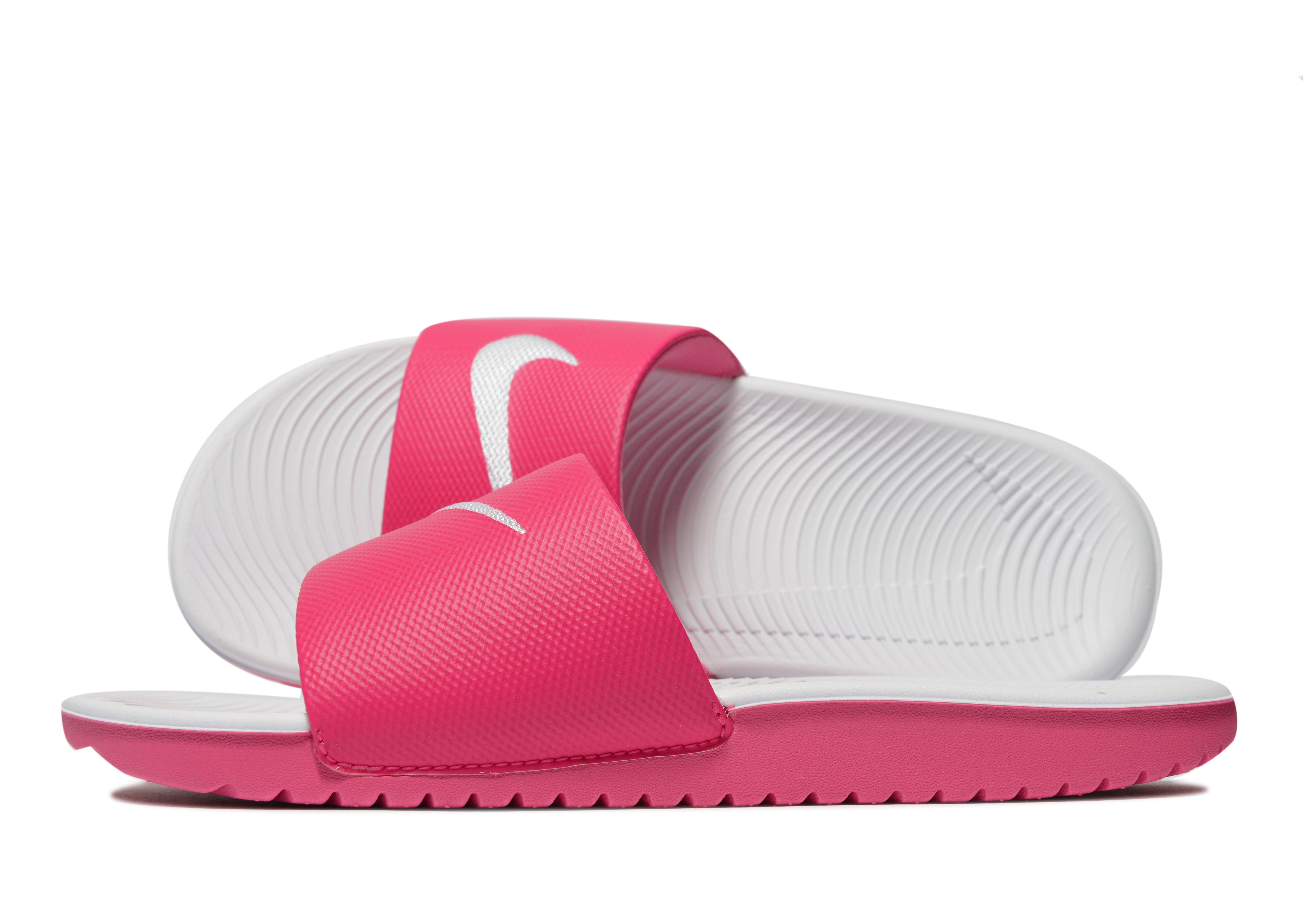 reputable site 6e9f5 8eec5 Nike Kawa Slides Junior in Pink - Lyst