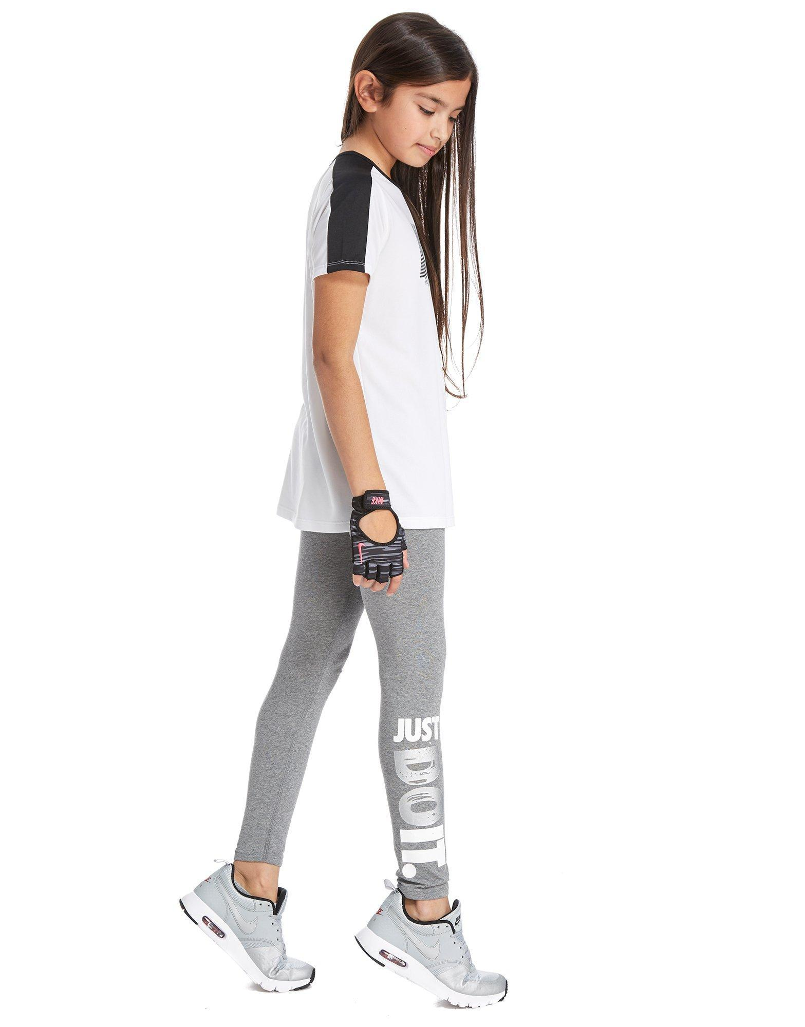 Nike Girls' Just Do It Leggings Junior in Gray