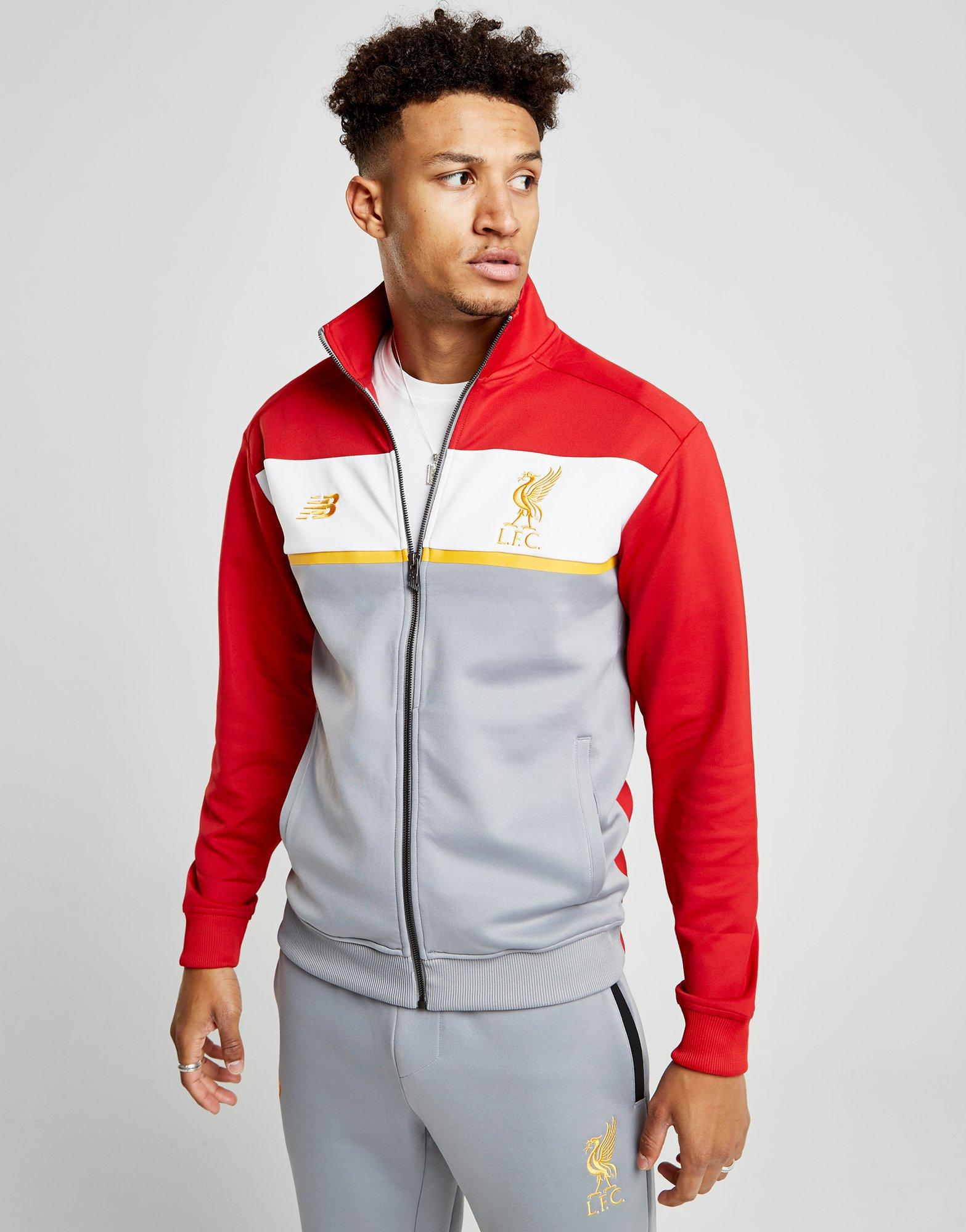 New Balance Synthetic 247 Liverpool Fc Track Top in Grey
