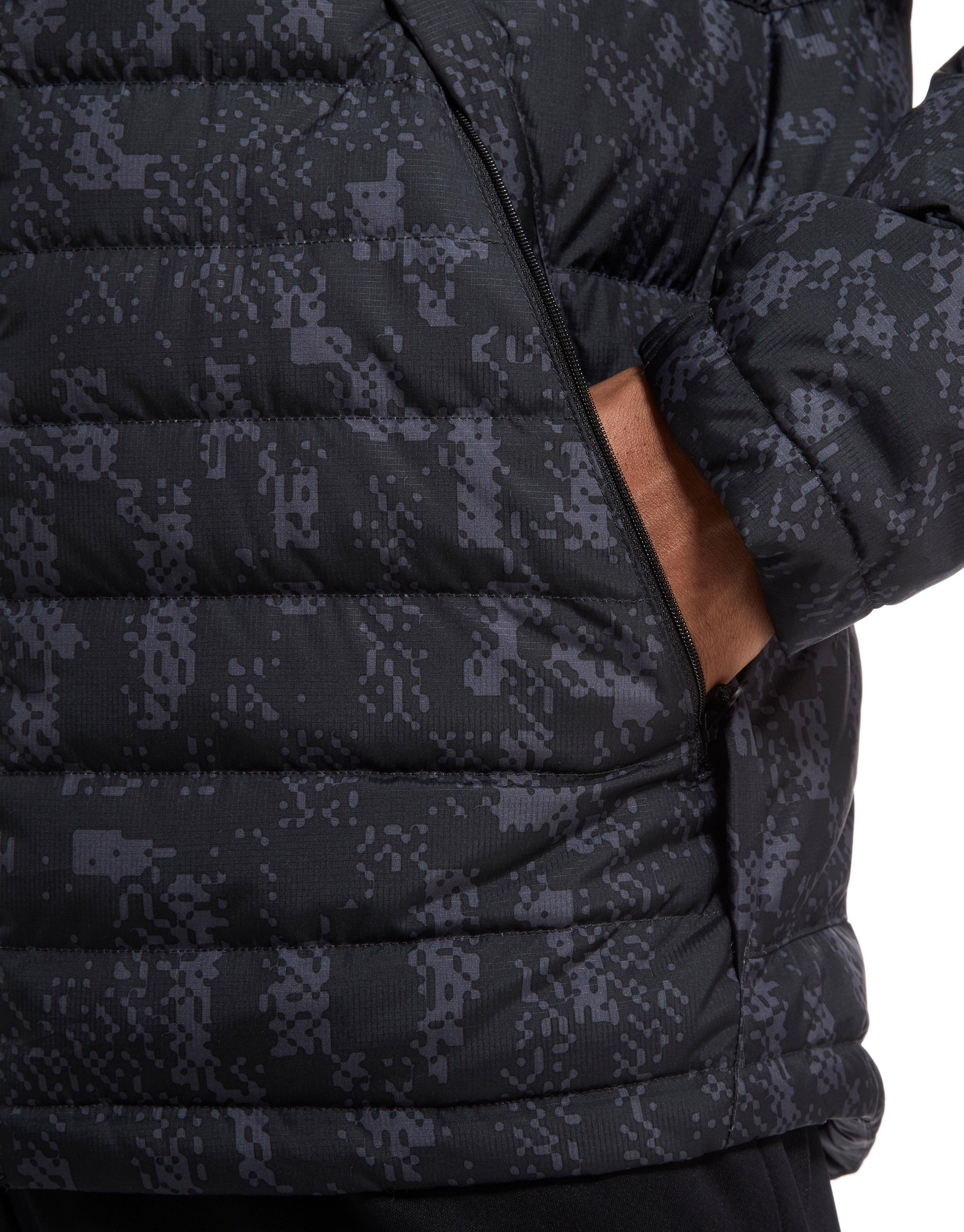 be9b1e797 Nike Printed Down Fill Hooded Jacket in Black for Men - Lyst