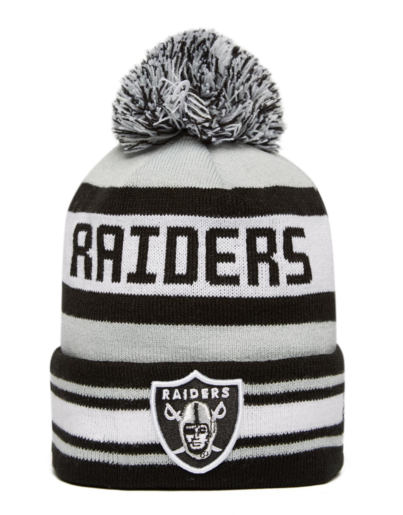 Lyst - Ktz Nfl Oakland Raiders Jake Bobble Hat in Black c37fb6147e8