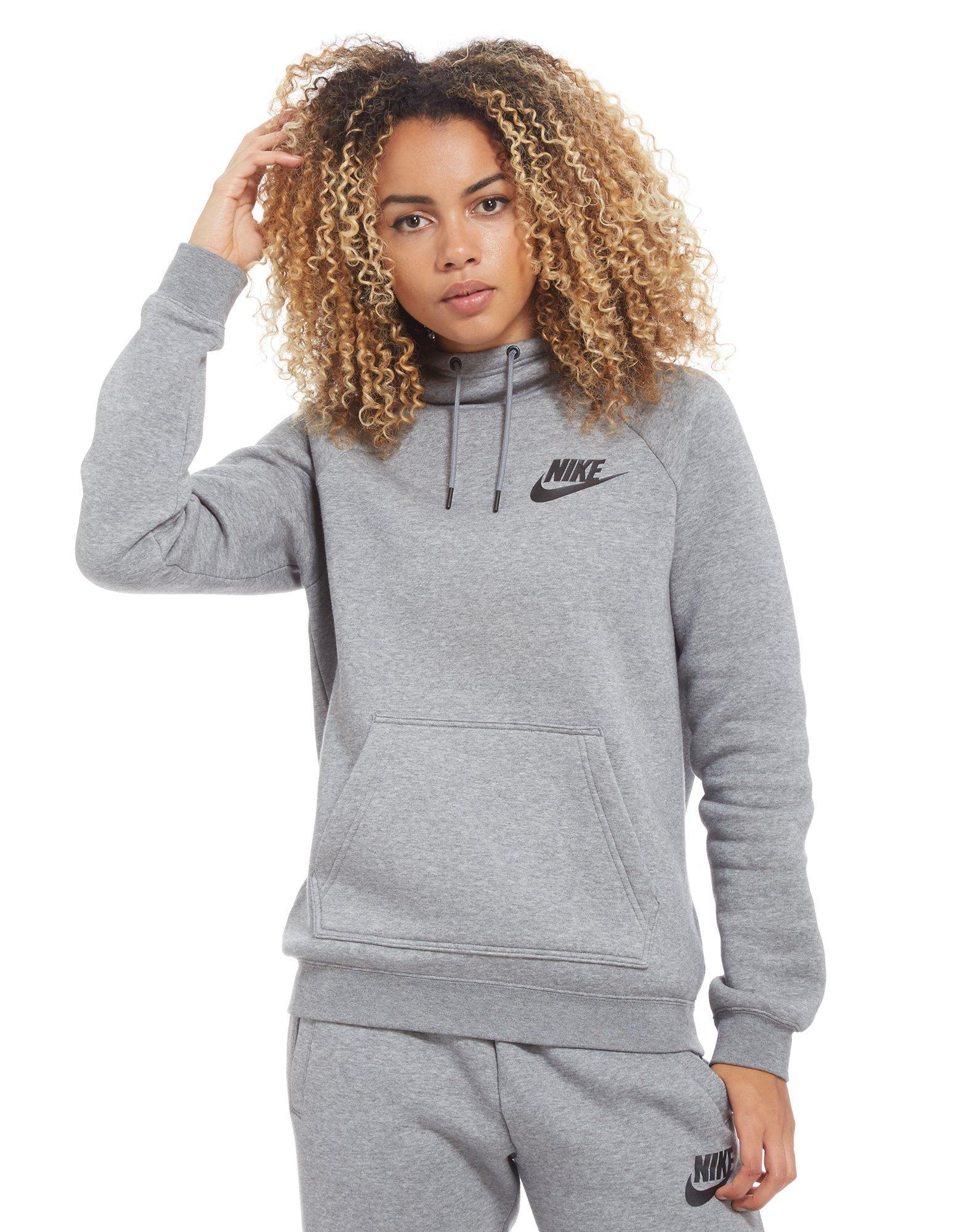 Lyst - Nike Rally Overhead Hoodie in Gray