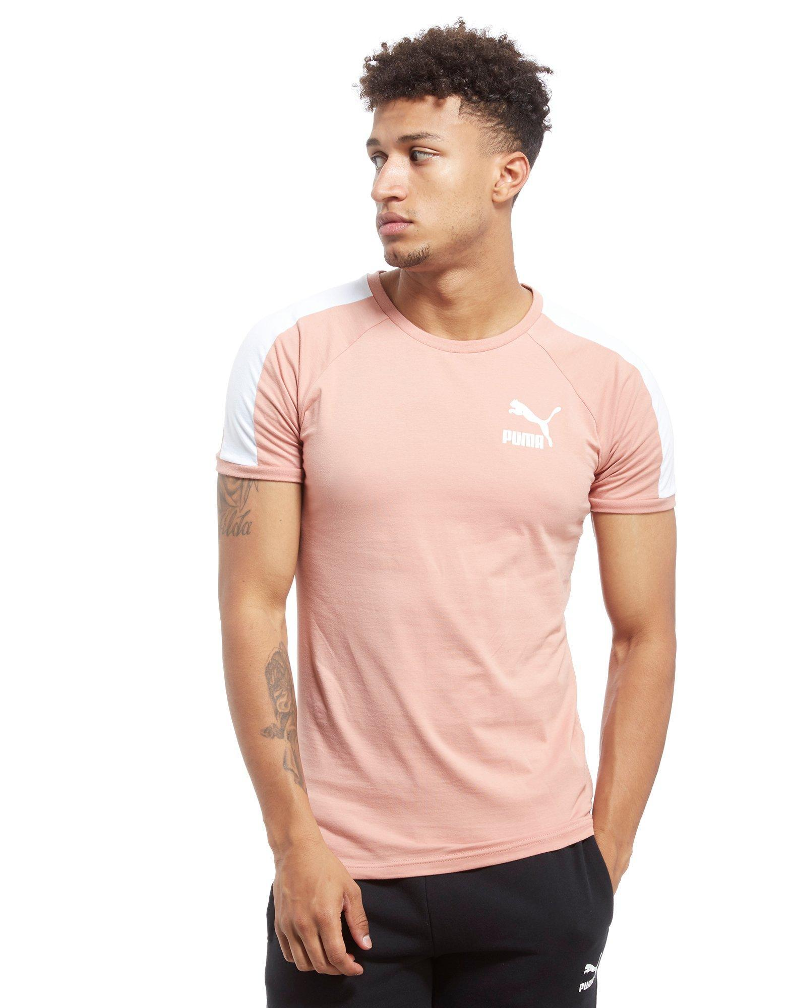 064974355 PUMA T7 T-shirt in Pink for Men - Lyst