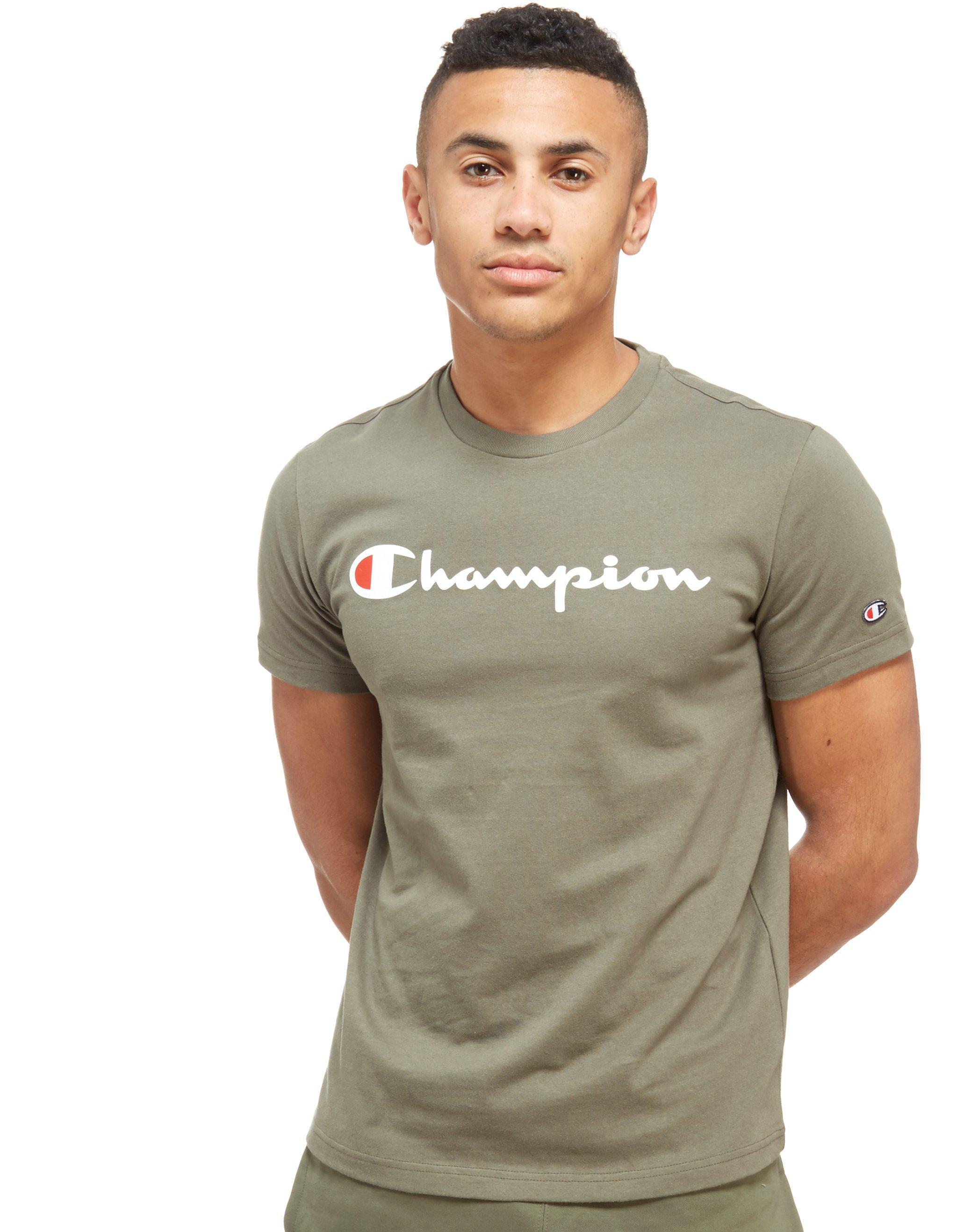 97c363d40c97 Champion Core Script T-shirt in Green for Men - Lyst