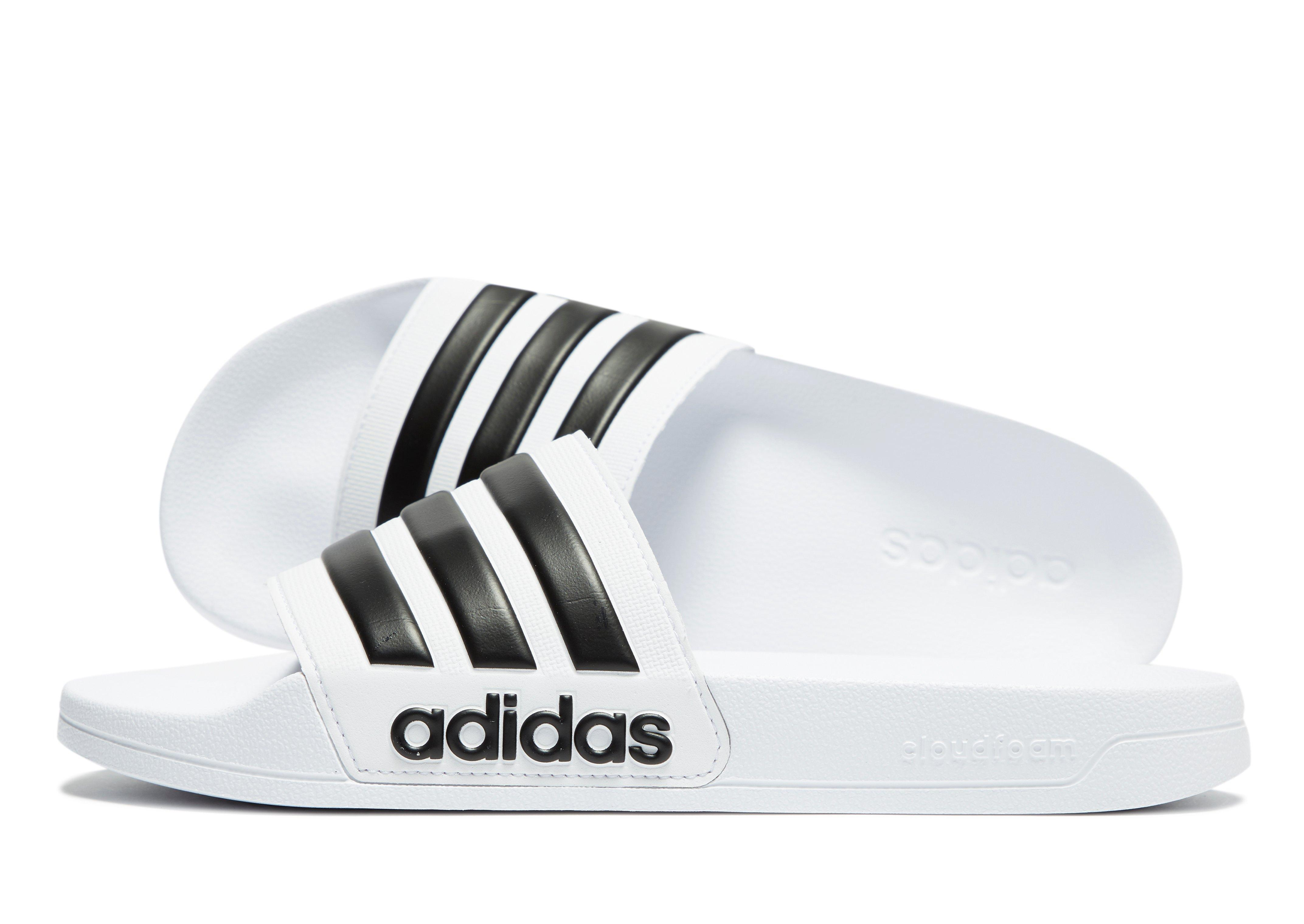 fc7d970a8721e0 Lyst - adidas Cloudfoam Adilette Slides in White for Men