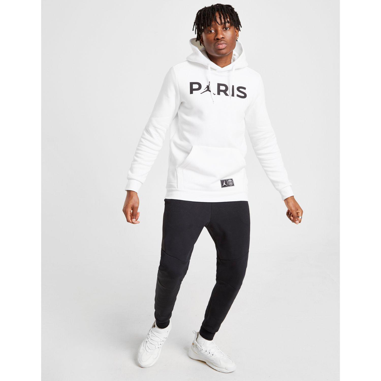 53c4143a4c3 Nike X Paris Saint Germain Jumpman Pullover Hoodie in White for Men ...