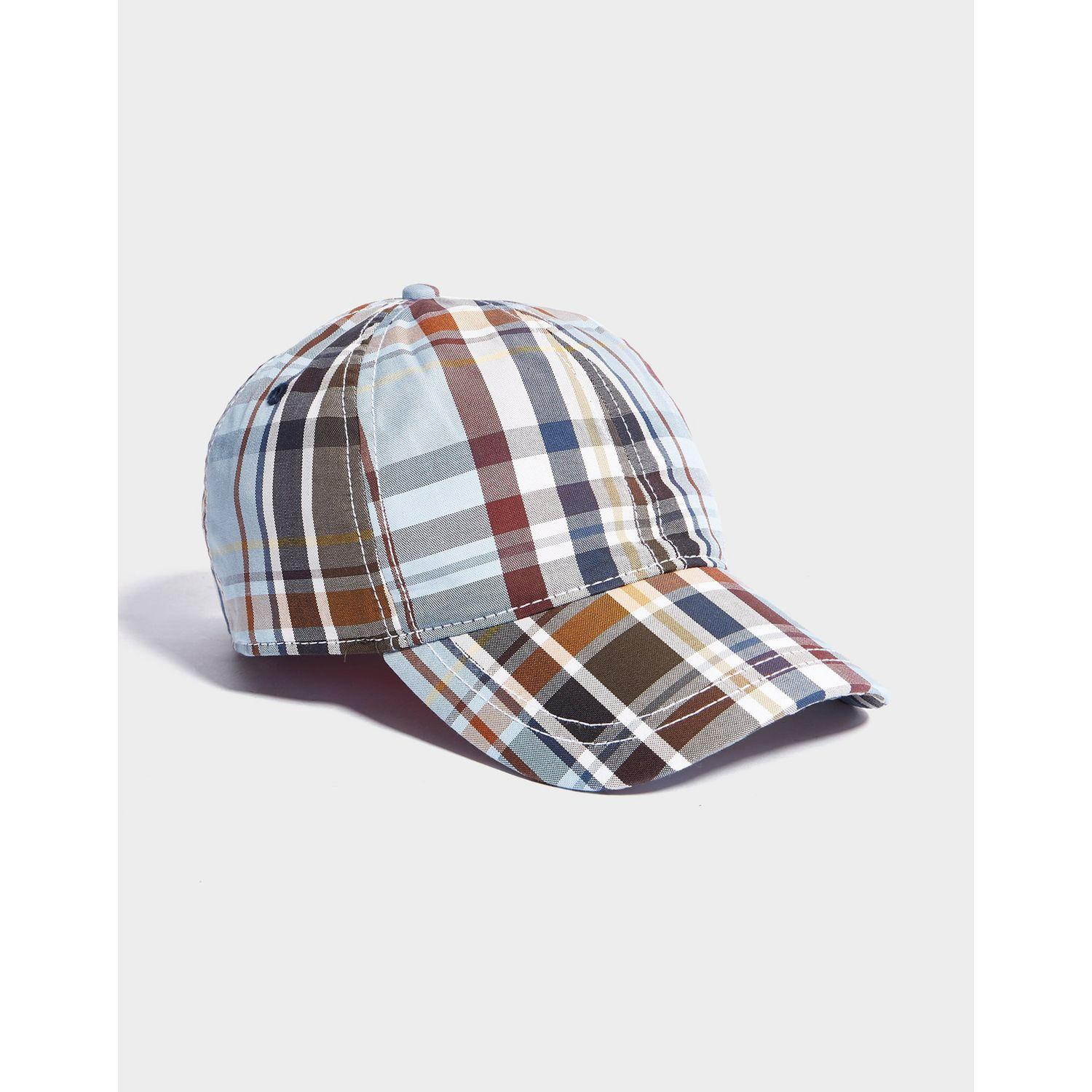 6c2b4d5e4150d Lyst - Fred Perry Check Cap in Blue