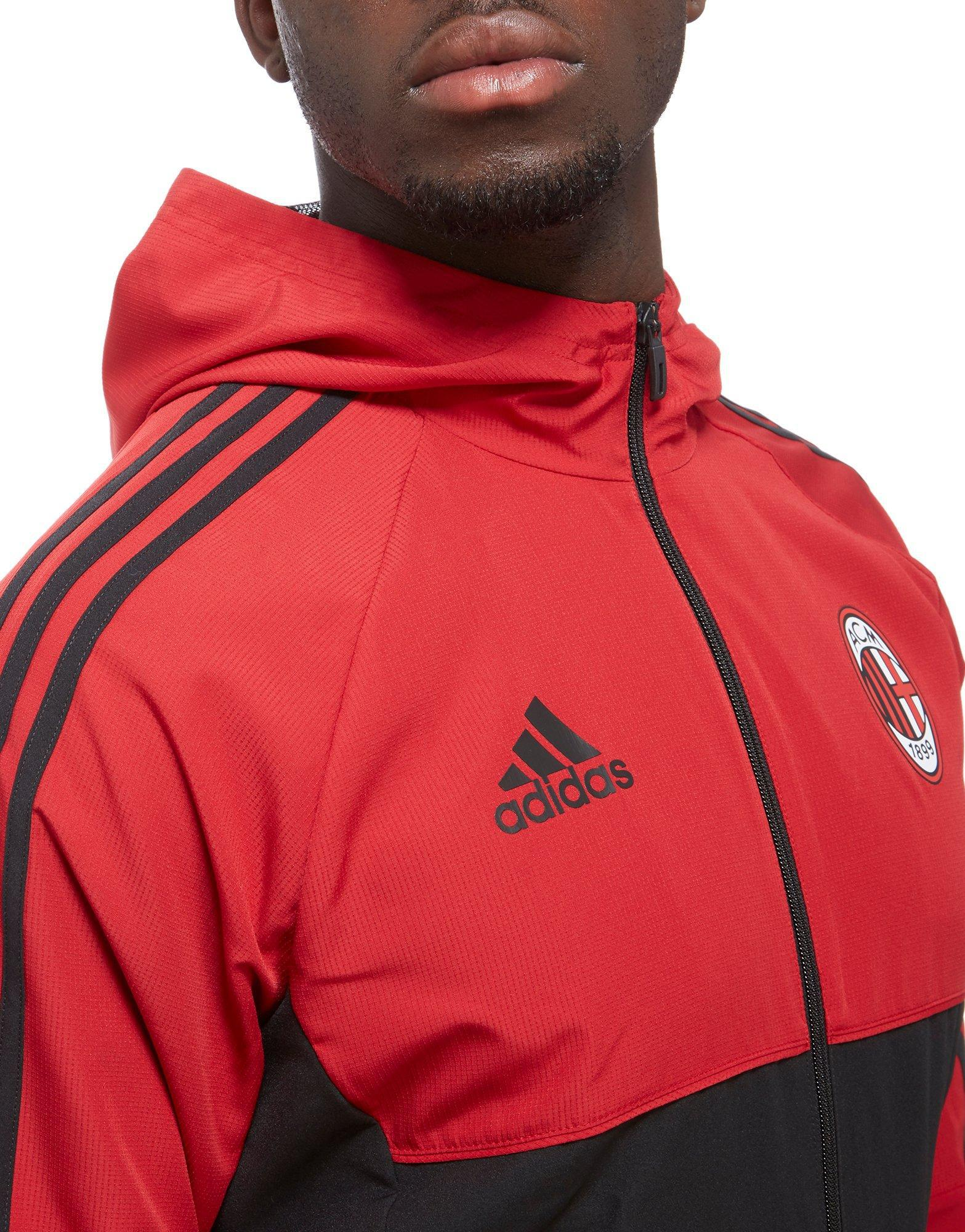 Ac For Milan In Presentation Adidas Men Red Lyst Jacket p4qU5Ovwnx