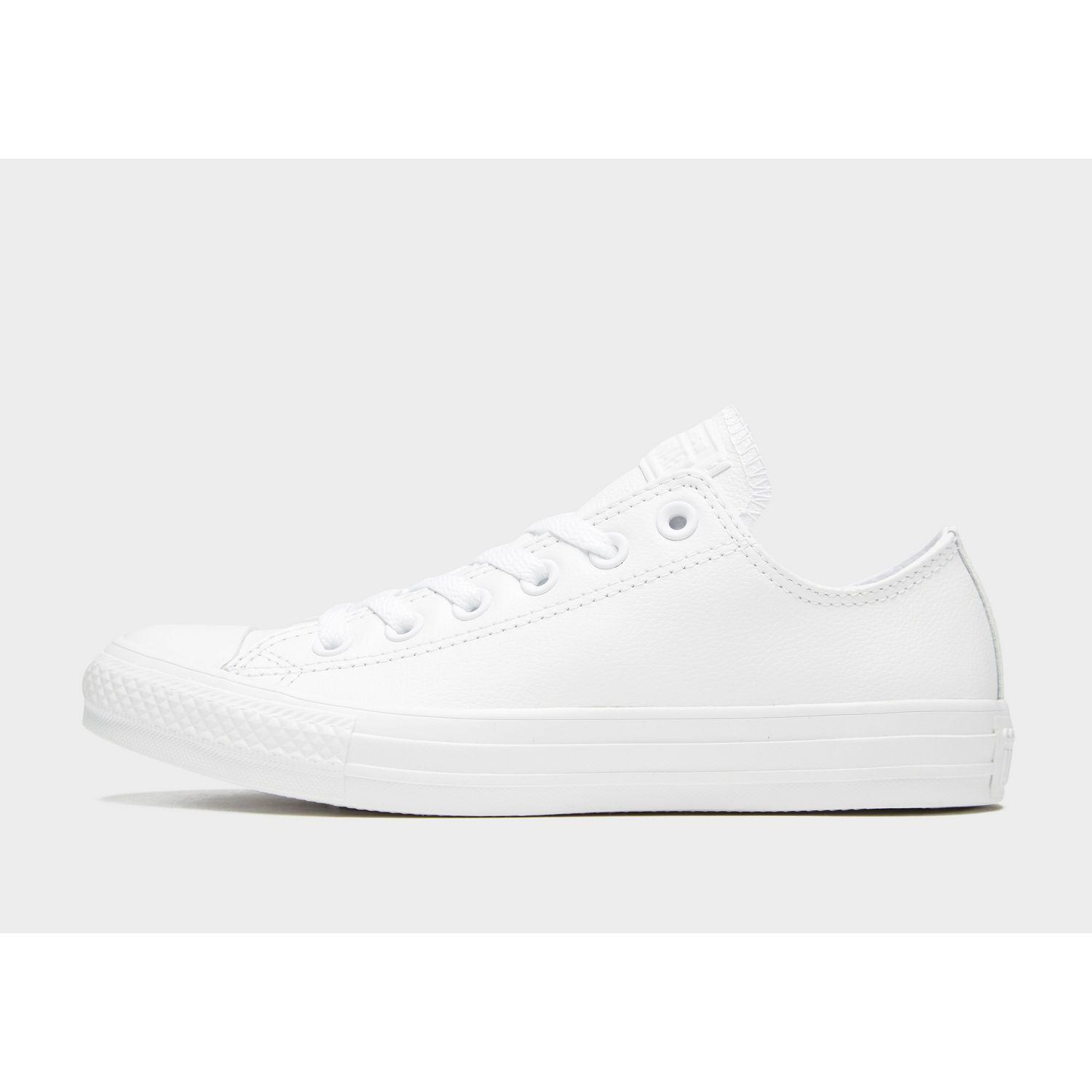46fd51ad915a Lyst - Converse All Star Leather Ox in White