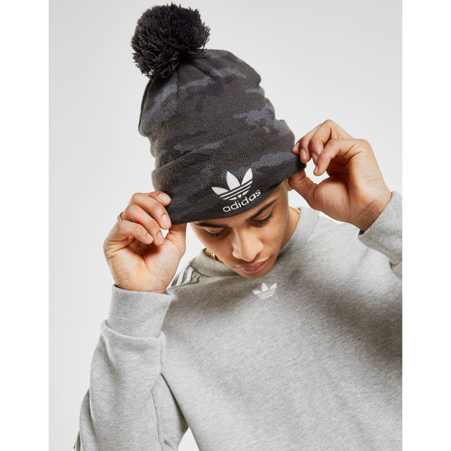d163a88d4b8 Lyst - adidas Originals Pom Beanie in Black
