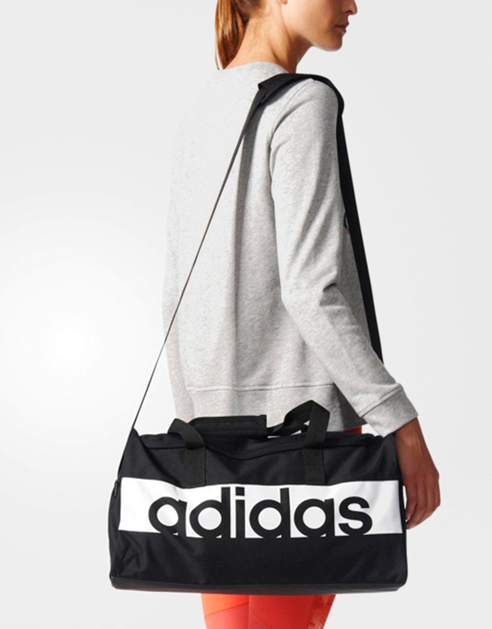 21bf48380b adidas Linear Performance Duffel Bag Small in Black - Lyst
