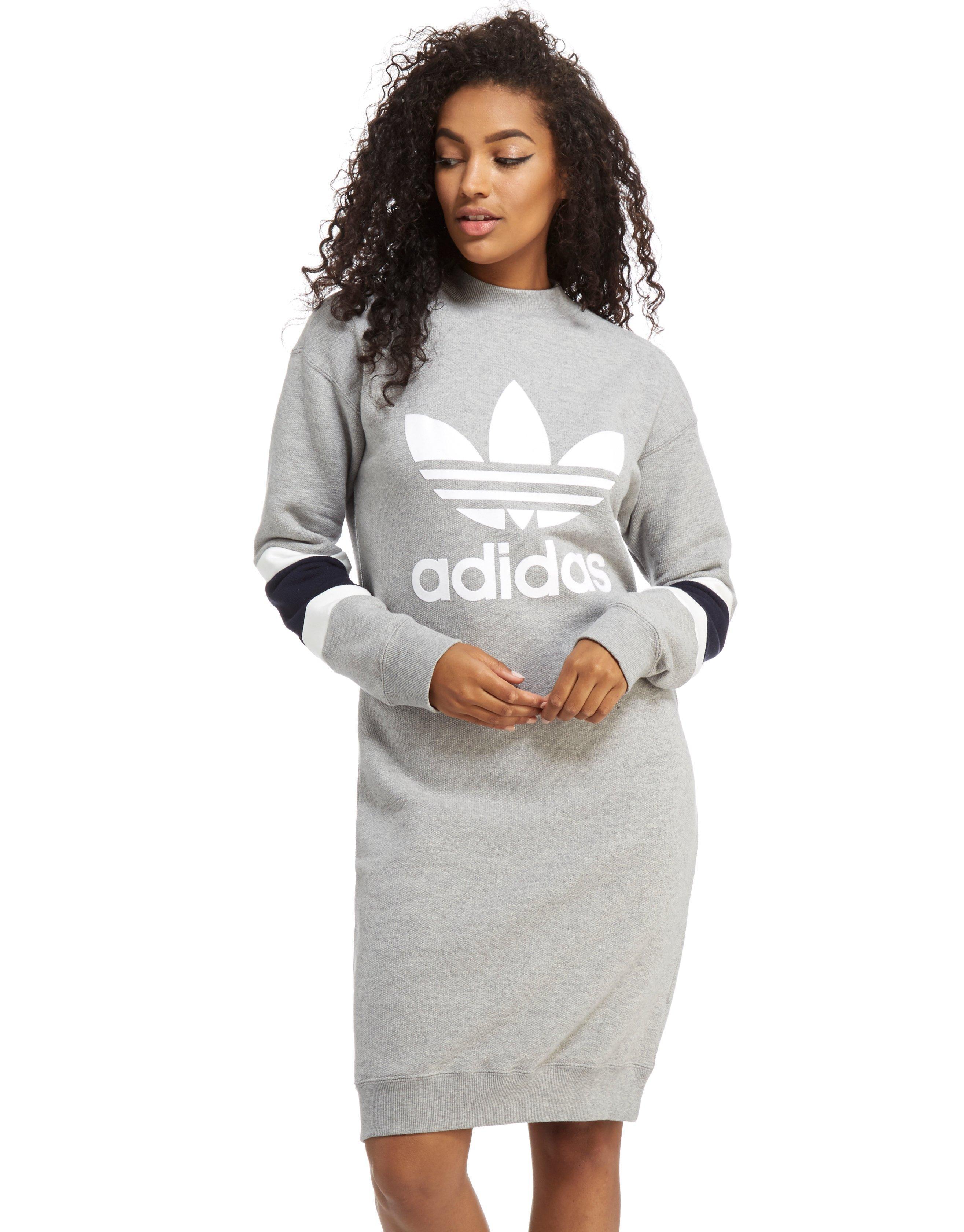 50ba5672bd98 Lyst - adidas Originals High Neck Sweater Dress in Gray