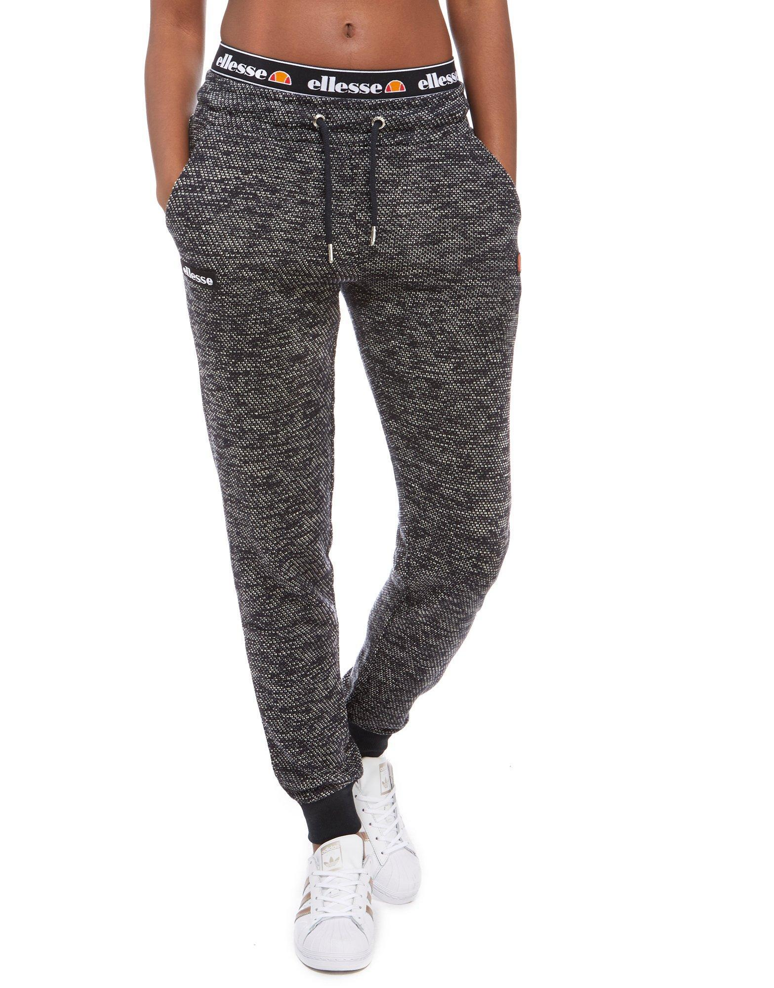 Lyst - Ellesse Tape Waistband Track Pants in Black 5d77813a624