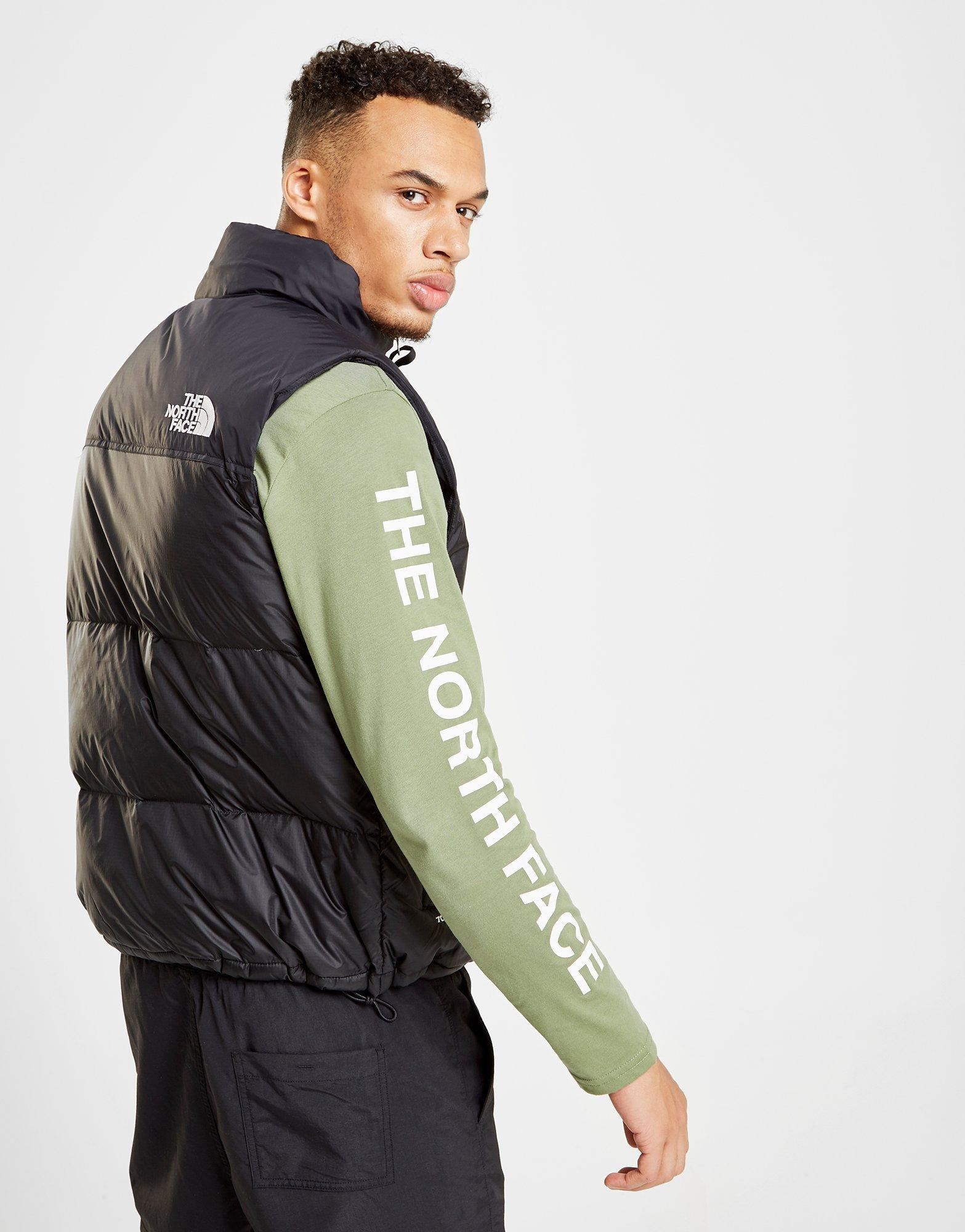 f6a87a5818 Mens Black Nuptse Bib Trousers best service 3952f 7d9c3  The North Face  Nuptse 1996 Gilet in Black for Men - Lyst new style 8f52d 9daa4 ...