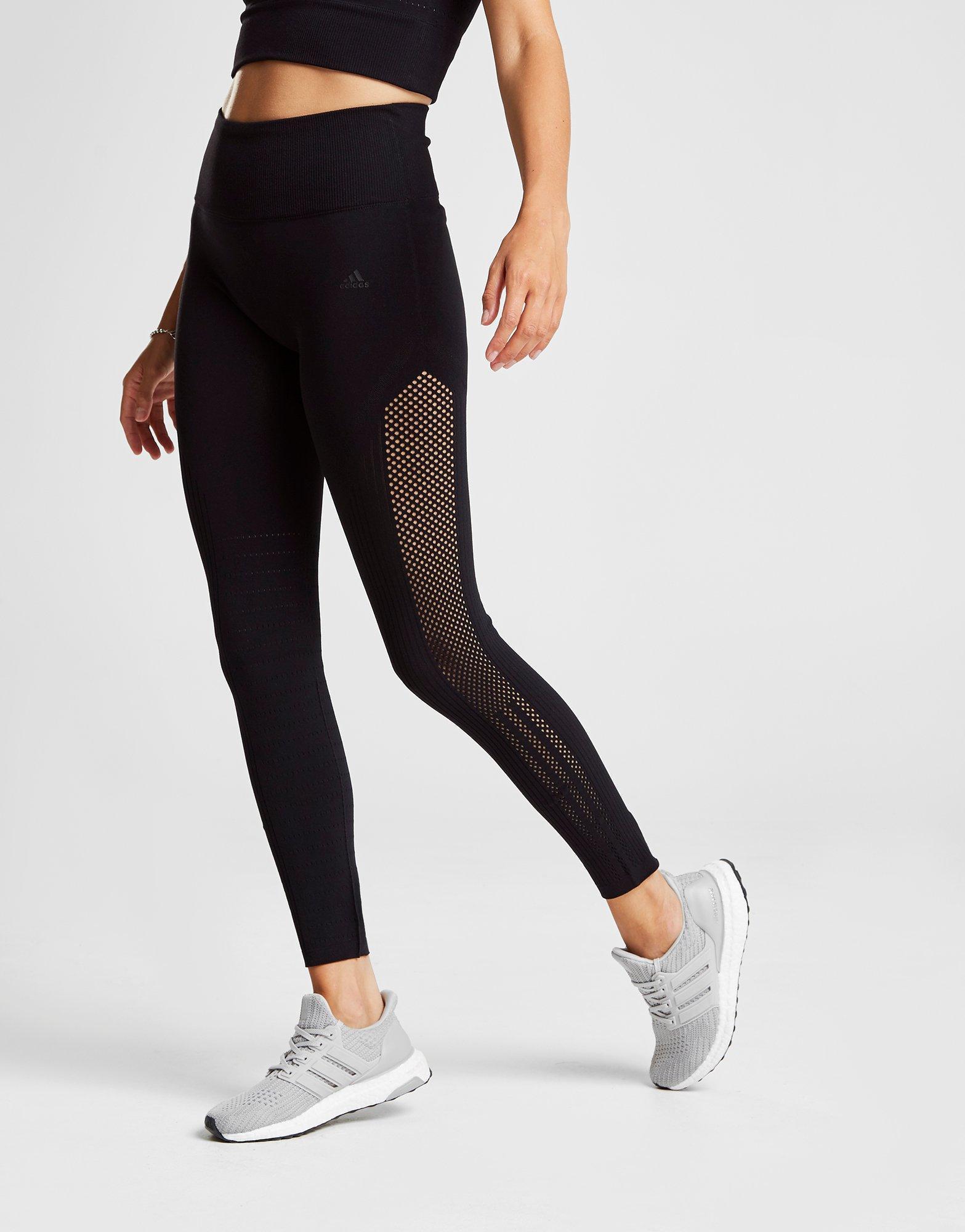 478251273cf80f Adidas Warp Knit Tights In Black Save 15 384615384615387 Lyst