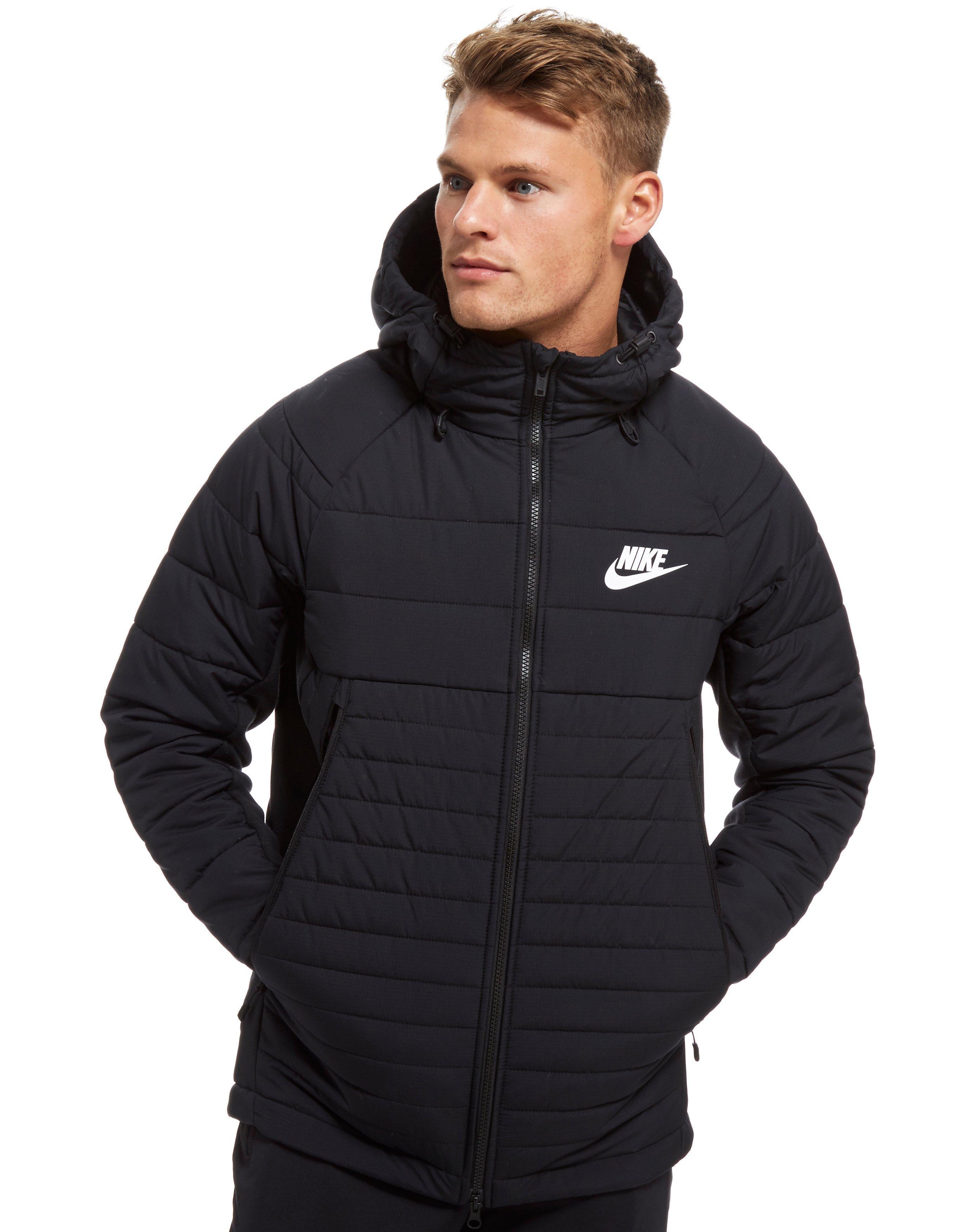 6525226c5665 Nike Sportswear Hooded Down Jacket in Black for Men - Lyst