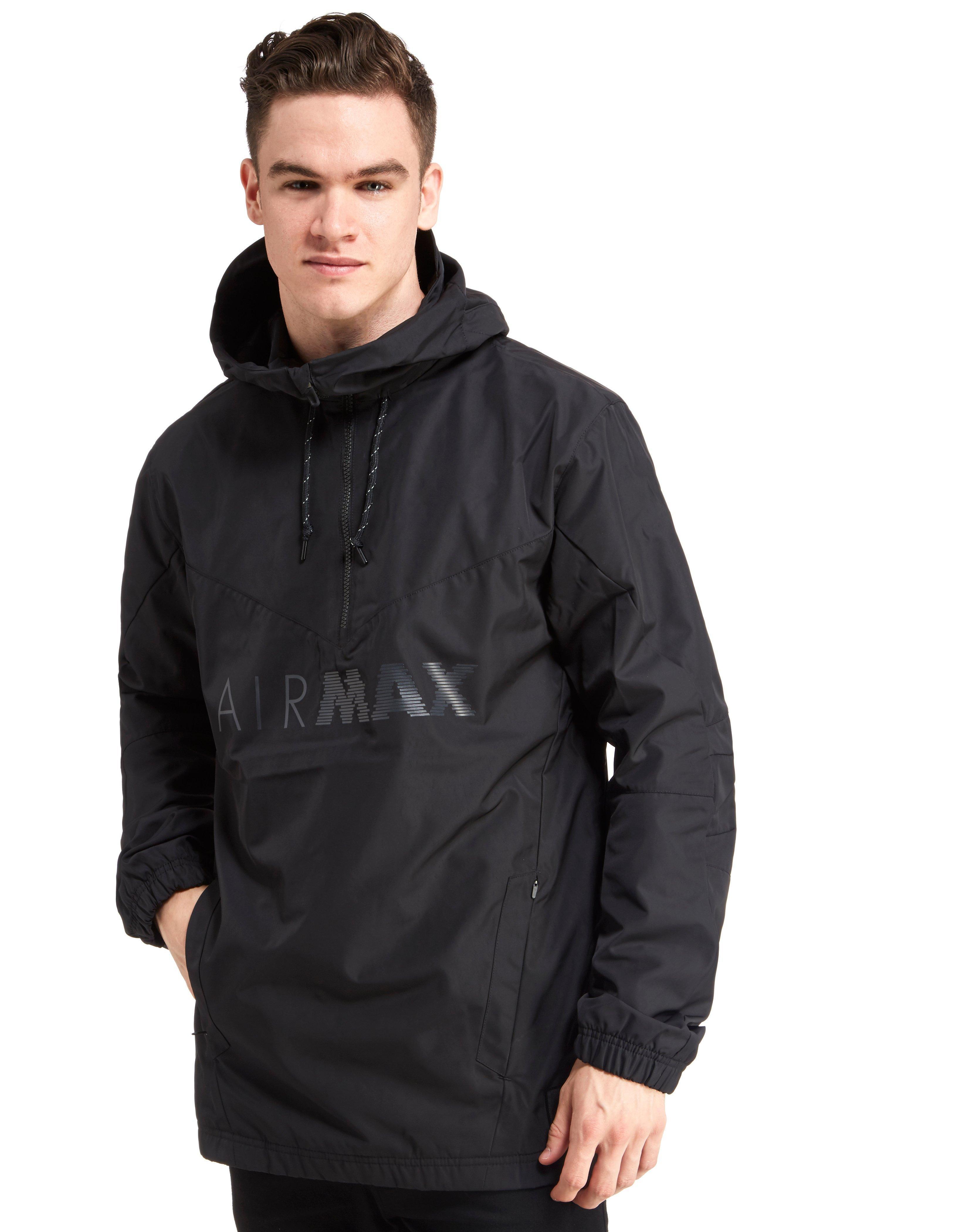 d18b1042f3 Nike Air Max Half Zip Chevron Jacket in Black for Men - Lyst