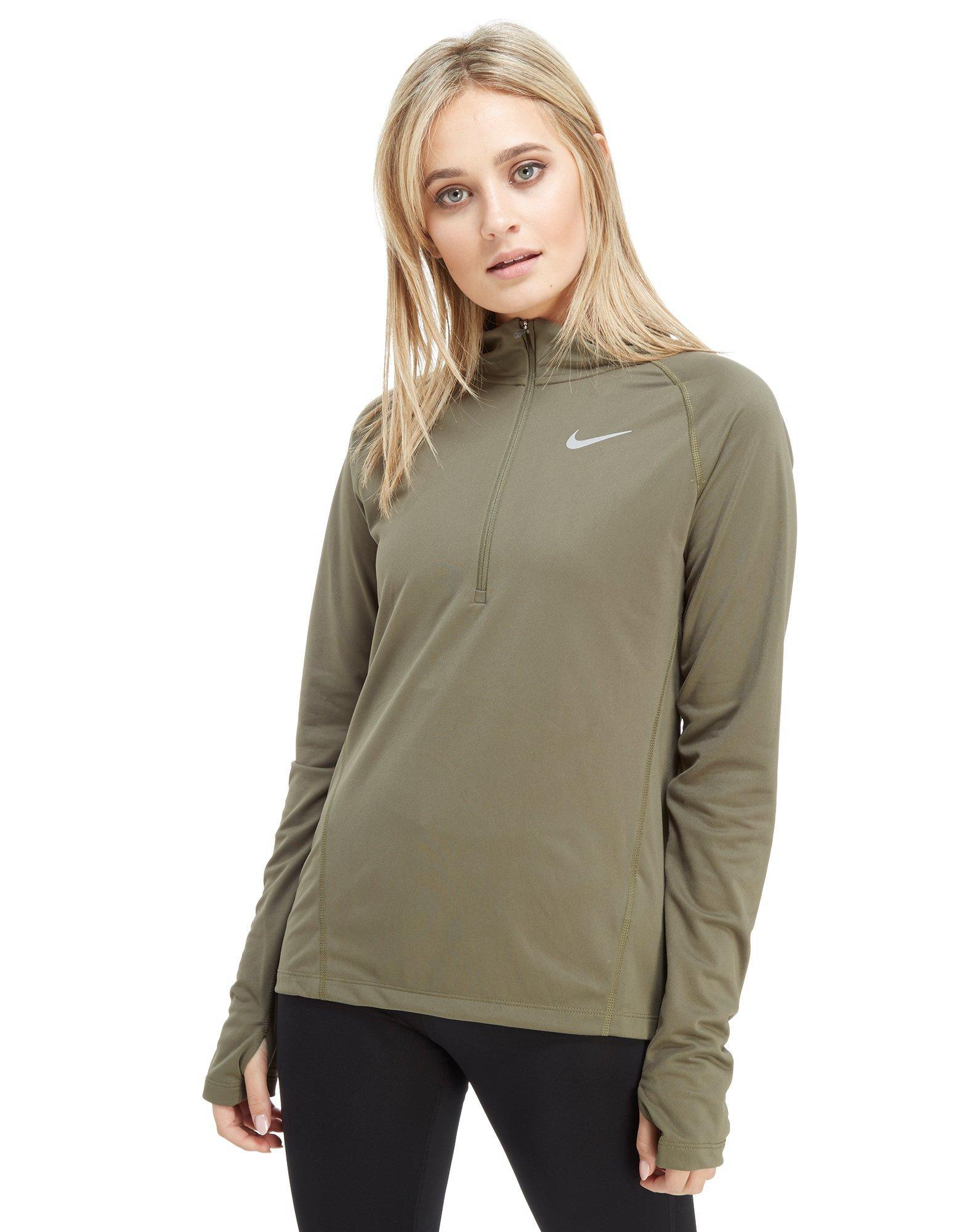 8127f31c2f9b Nike Running Core 1 4 Zip Top in Green - Lyst