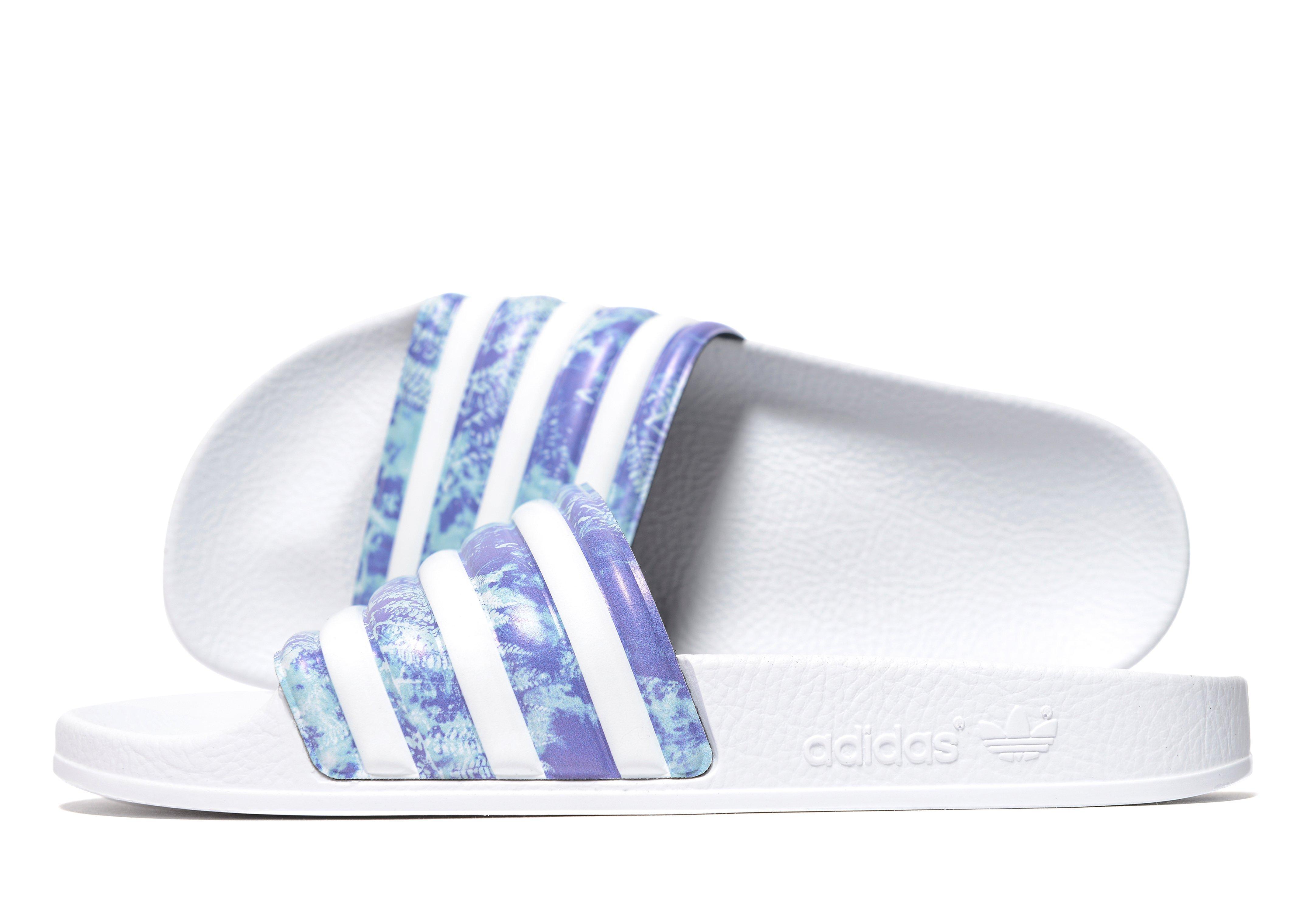 ea03d5911748b0 adidas Originals Adilette Slides in White - Lyst