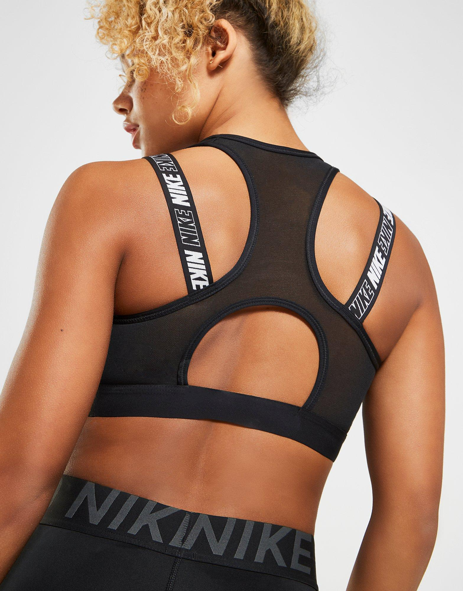 da1c8300bae91 Lyst - Nike Training Victory Hybrid Sports Bra in Black