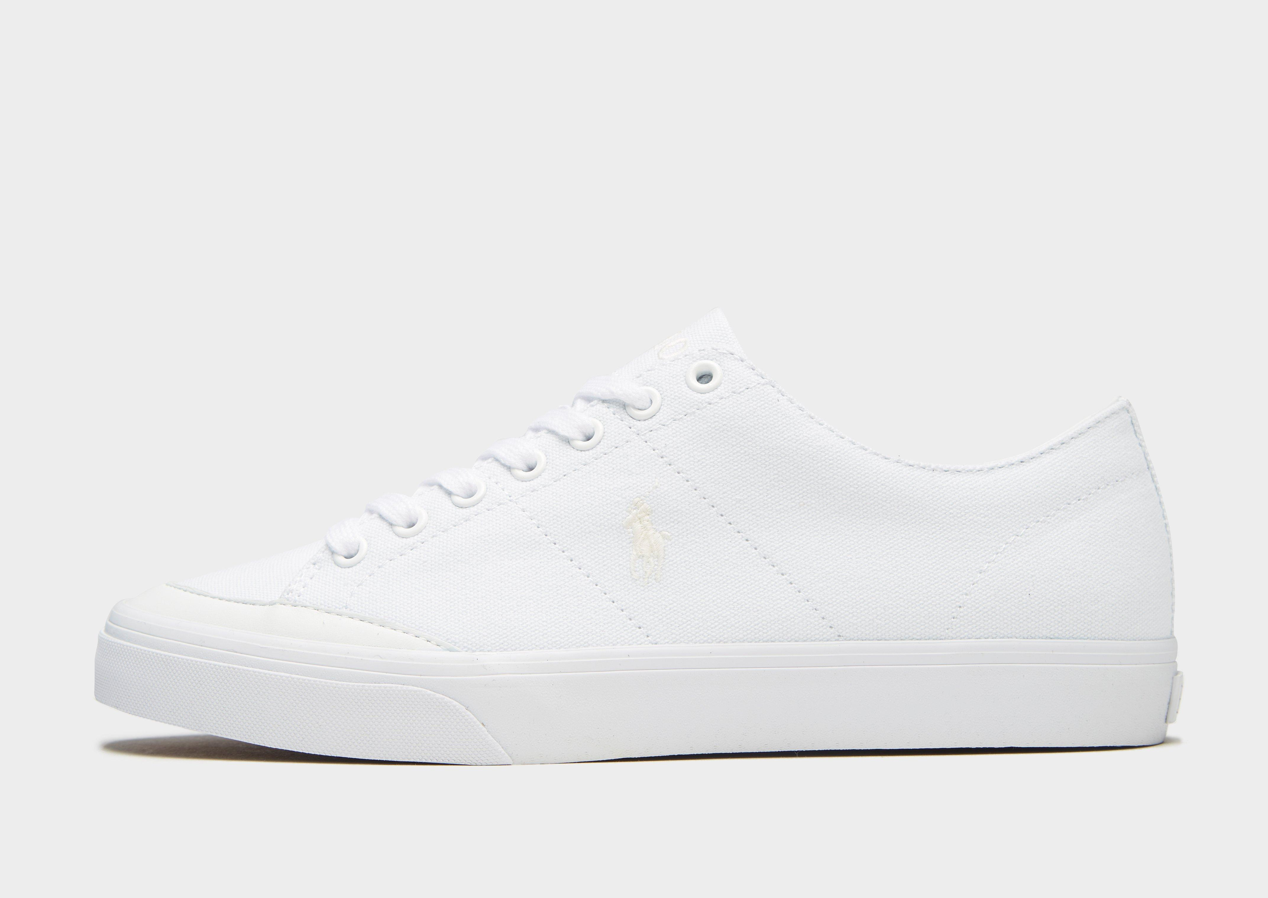 Polo Ralph Lauren Sherwin Canvas Low-top Sneaker in White for Men - Lyst c1bdbce8f57