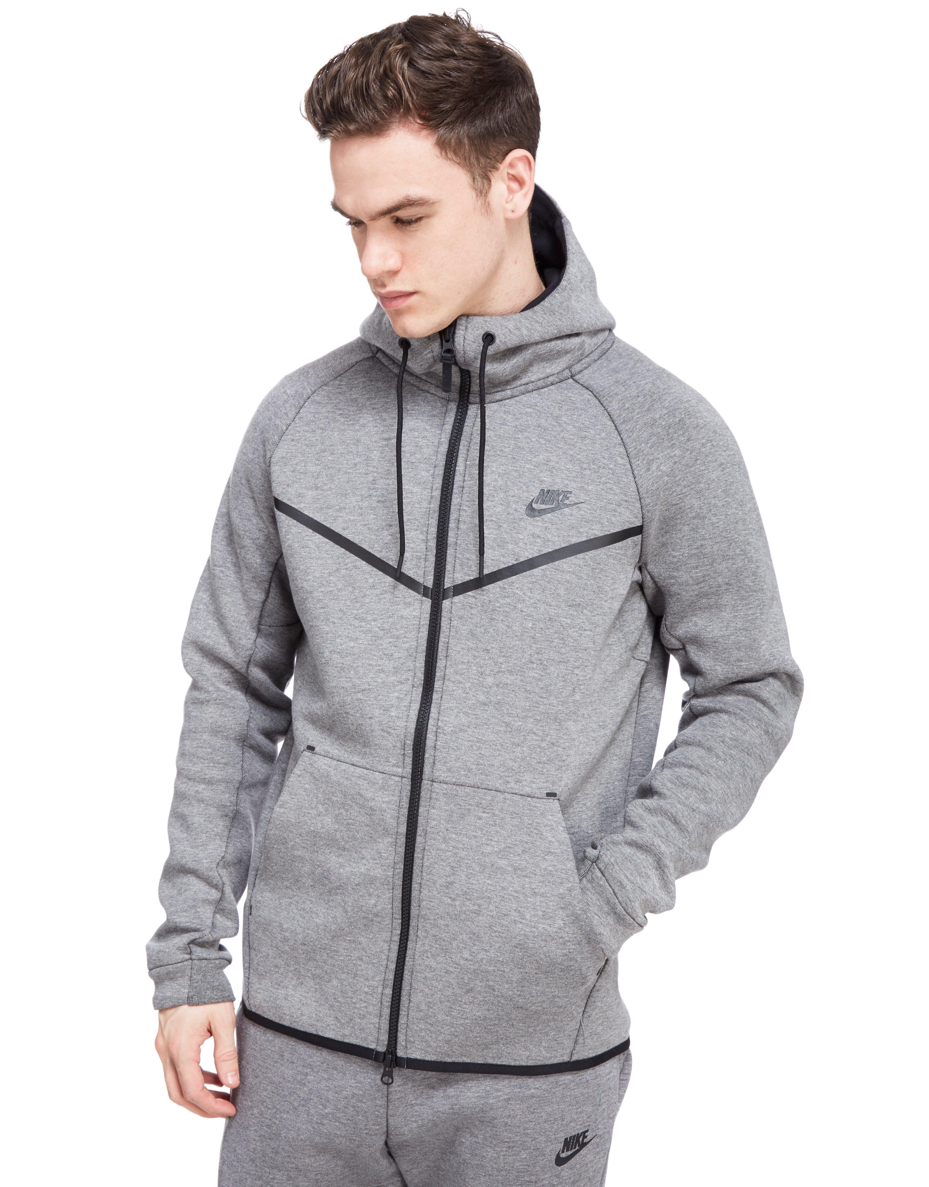 50f2a0a341 Nike Tech Fleece Windrunner Hoody in Gray for Men - Lyst
