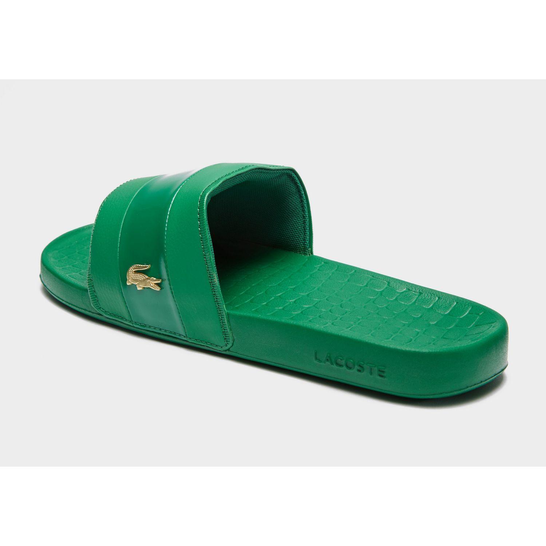 cd4b2ceb56cf0 Lacoste Frasier Deluxe Slides in Green for Men - Lyst