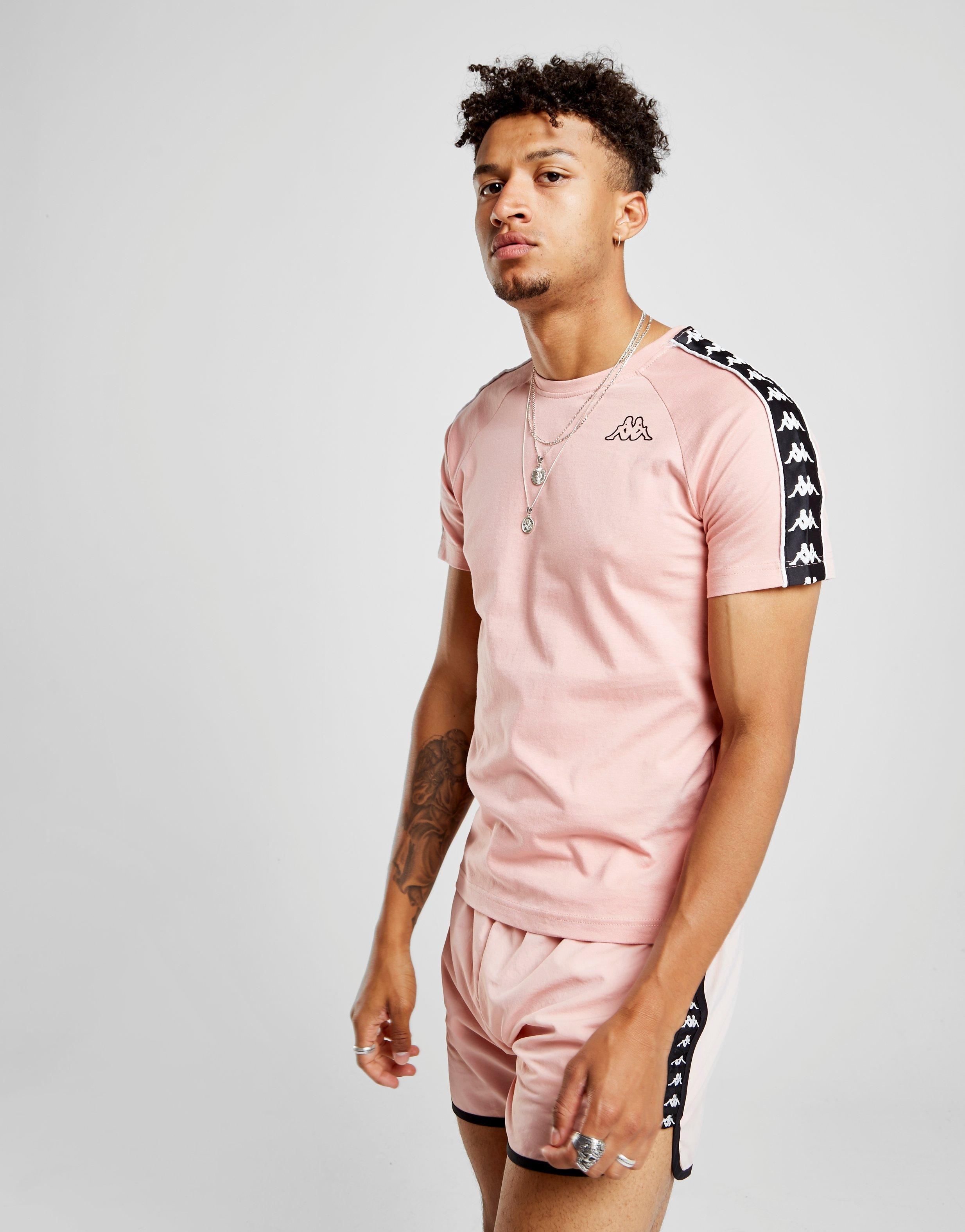 Sleeve Coen For Pink Shirt Lyst In Men Short Kappa T SVqUMpz