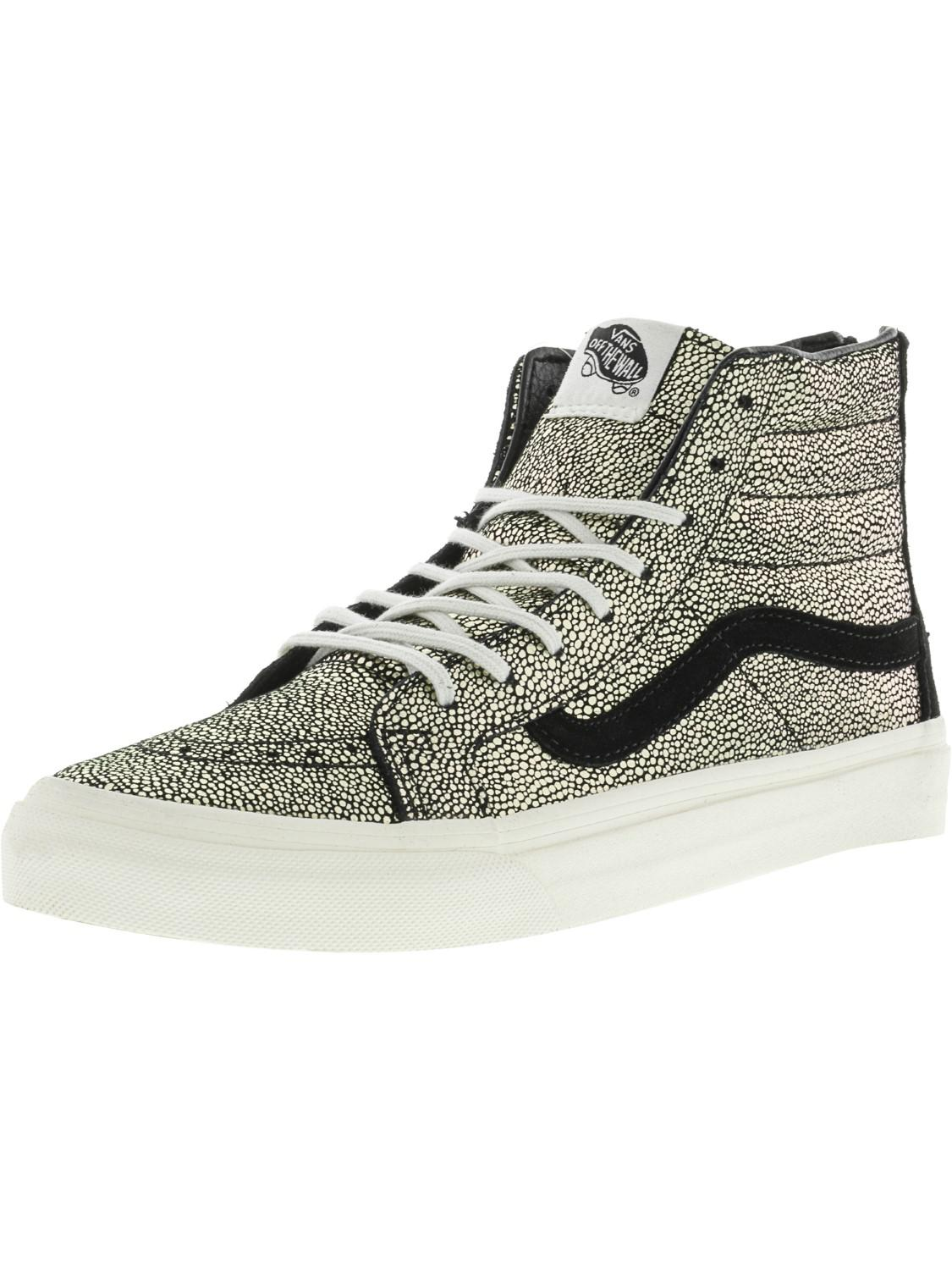 Lyst - Vans Sk8-hi Slim Zip Gold Dots   Blanc De High-top ... 7a164fa0f