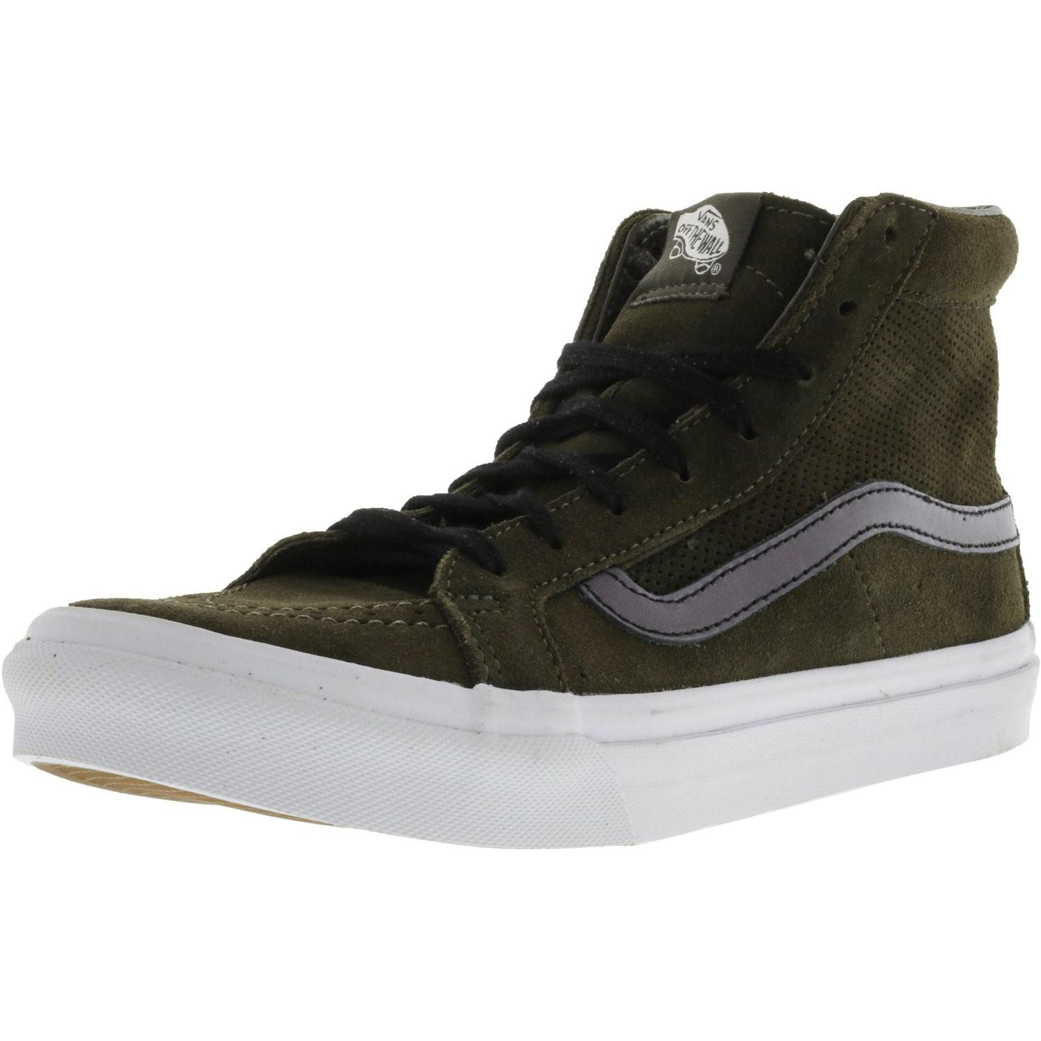75124f1105723e Lyst - Vans Sk8-hi Slim Cutout Perforated Suede High-top ...