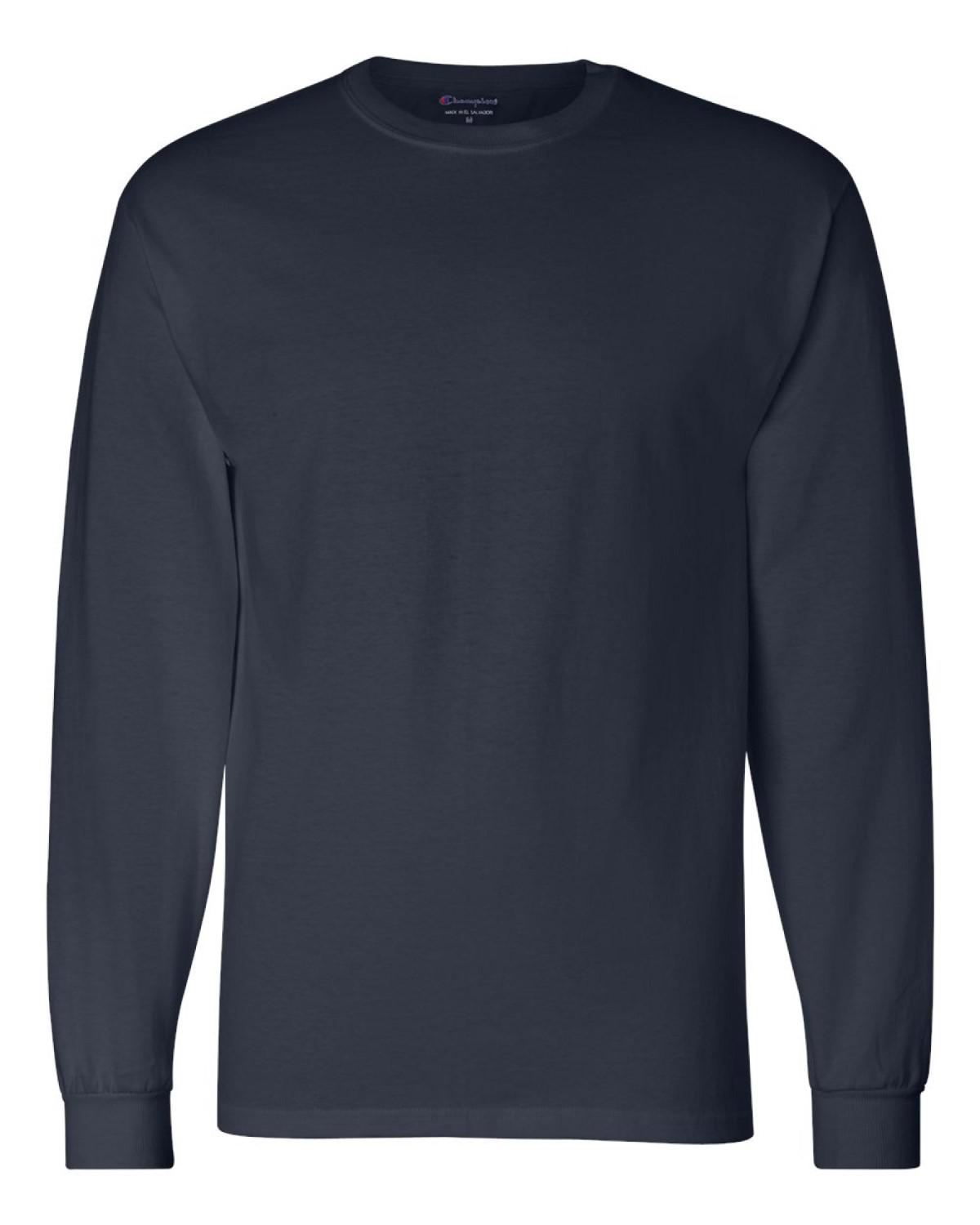 ce87ada6e Lyst - Champion 5.2 Oz. Long-sleeve Tagless T-shirt Cc8c in Blue for Men